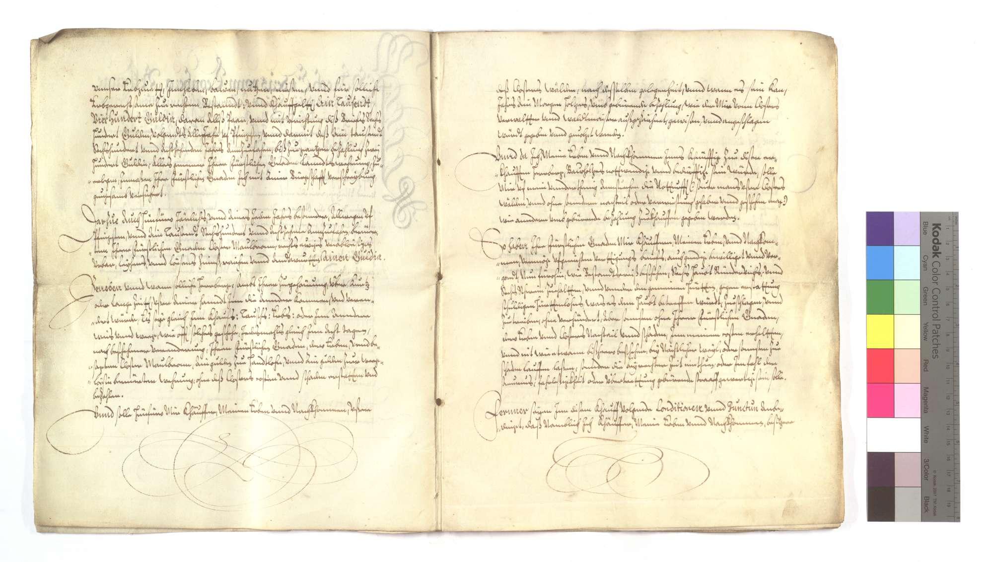 Erblehensrevers Jakob Endris von Leonberg um die Gastherberge von Maulbronn vor dem Kloster., Bild 3