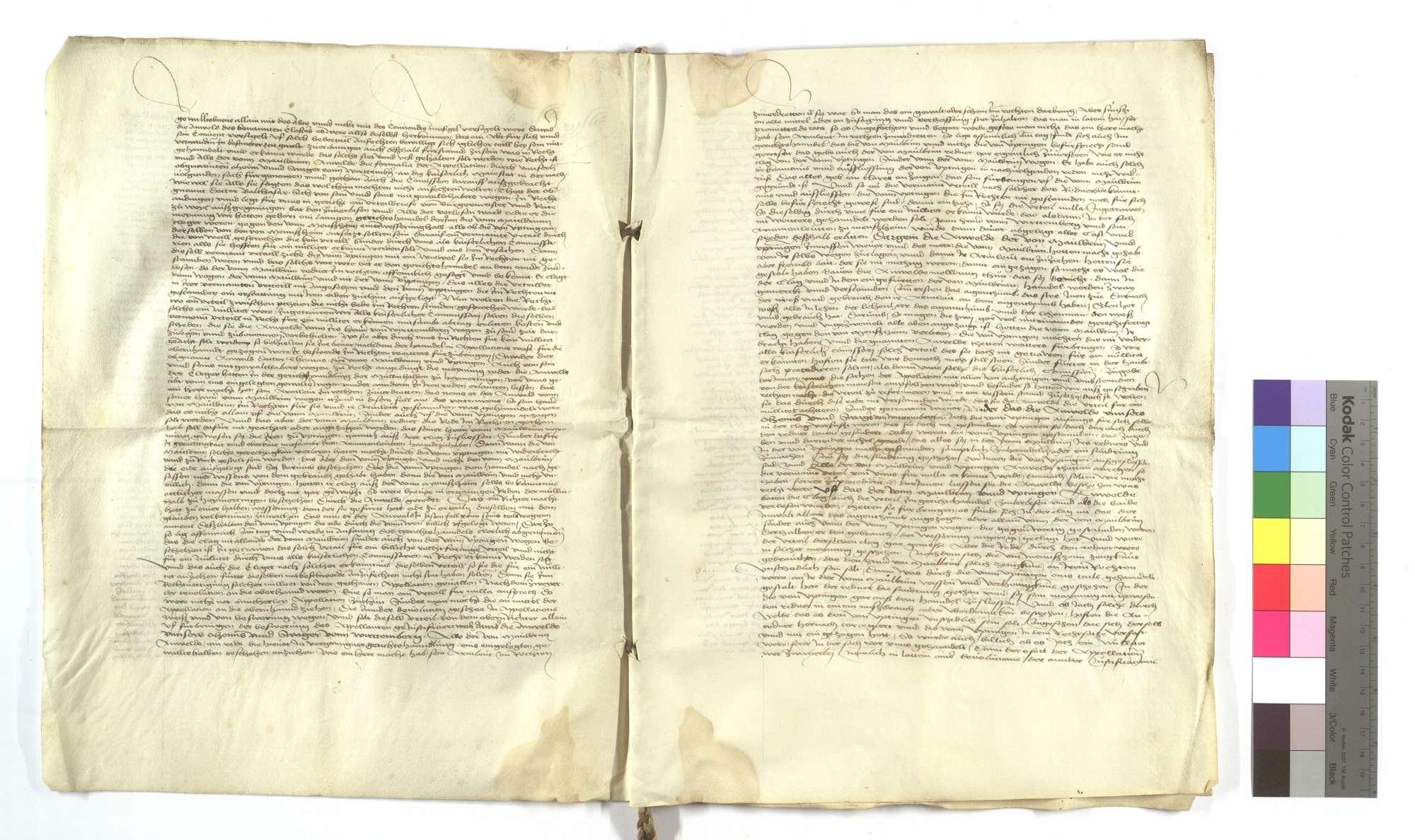 Urteil des Markgrafs Albrecht von Brandenburg in der genannten Streitsache, dass von der Stadt Weil [der Stadt] wohl geurteilt, von denen von Mönsheim aber übel appelliert sei., Bild 2