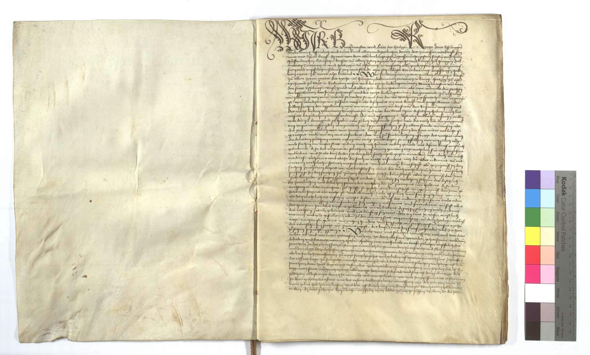 Acta und Urteilsbrief von Bürgermeister und Rat von Esslingen (Eßlingen), dass die von Vaihingen keine Gerechtigkeit haben, mit ihrem Vieh auf Illinger Markung zu treiben., Bild 2
