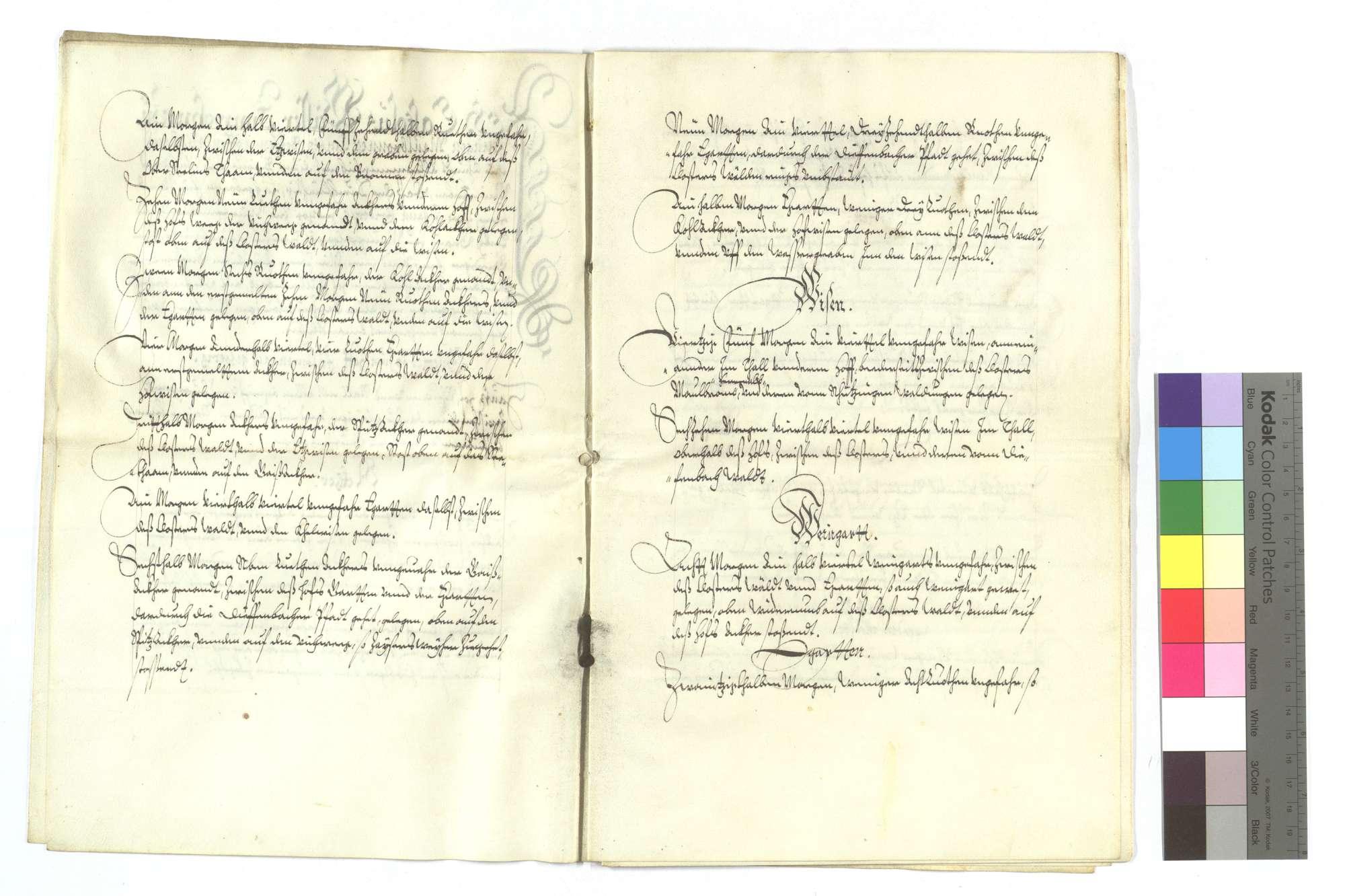 Verschreibung Castolus Weissers von Illingen, als Herzog Johann Friedrich ihm den Füllmenbacher Hof um 2.000 Gulden verkauft und noch ein bezeichnetes Stück Wald für 100 Gulden in den Kauf gegeben hat., Bild 3