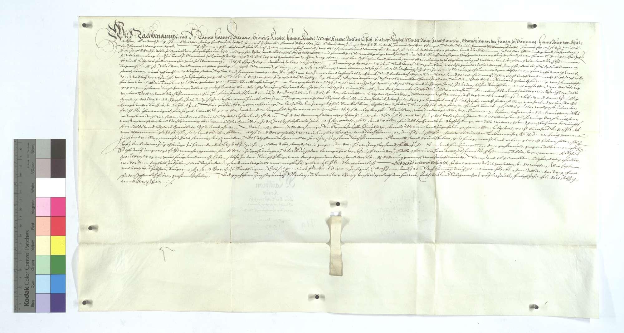 Revers Hans Spielmanns und Konsorten um das dem Kloster Maulbronn verkaufte sogenannte Eckenweiherer Gut., Text