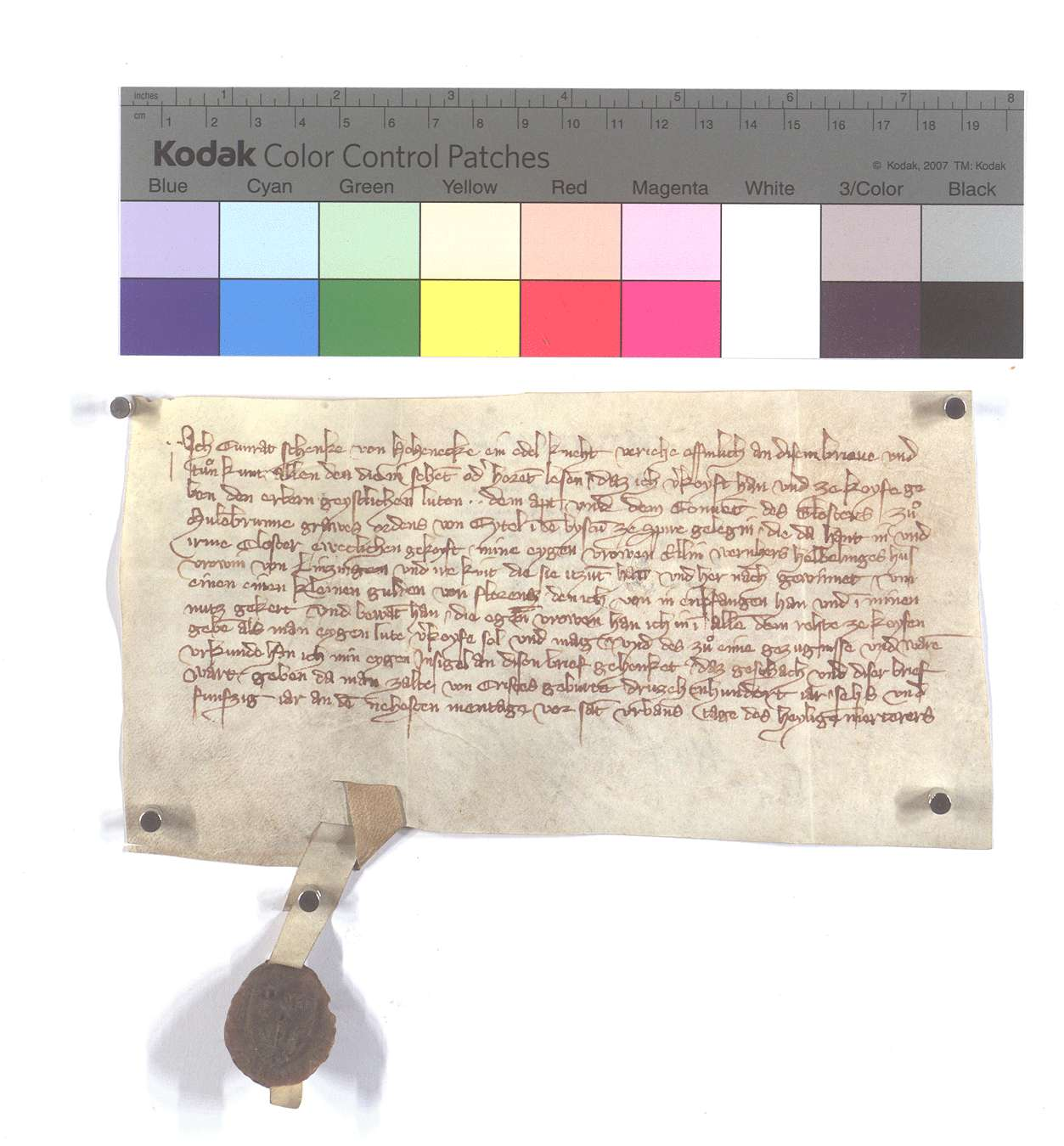 Fertigung des Conrad Schenk von Hoheneck um eine leibeigene Frau in Lienzingen., Text