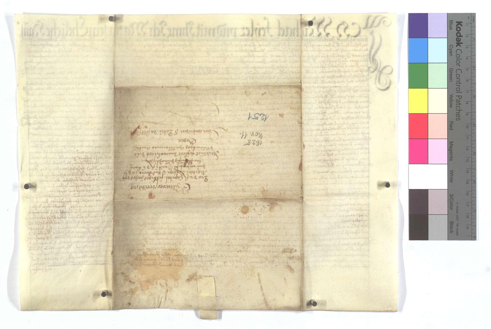 Verschreibung Michael Feylers und seiner Frau auf Martini 1 Gulden 36 Kreuzer., Rückseite