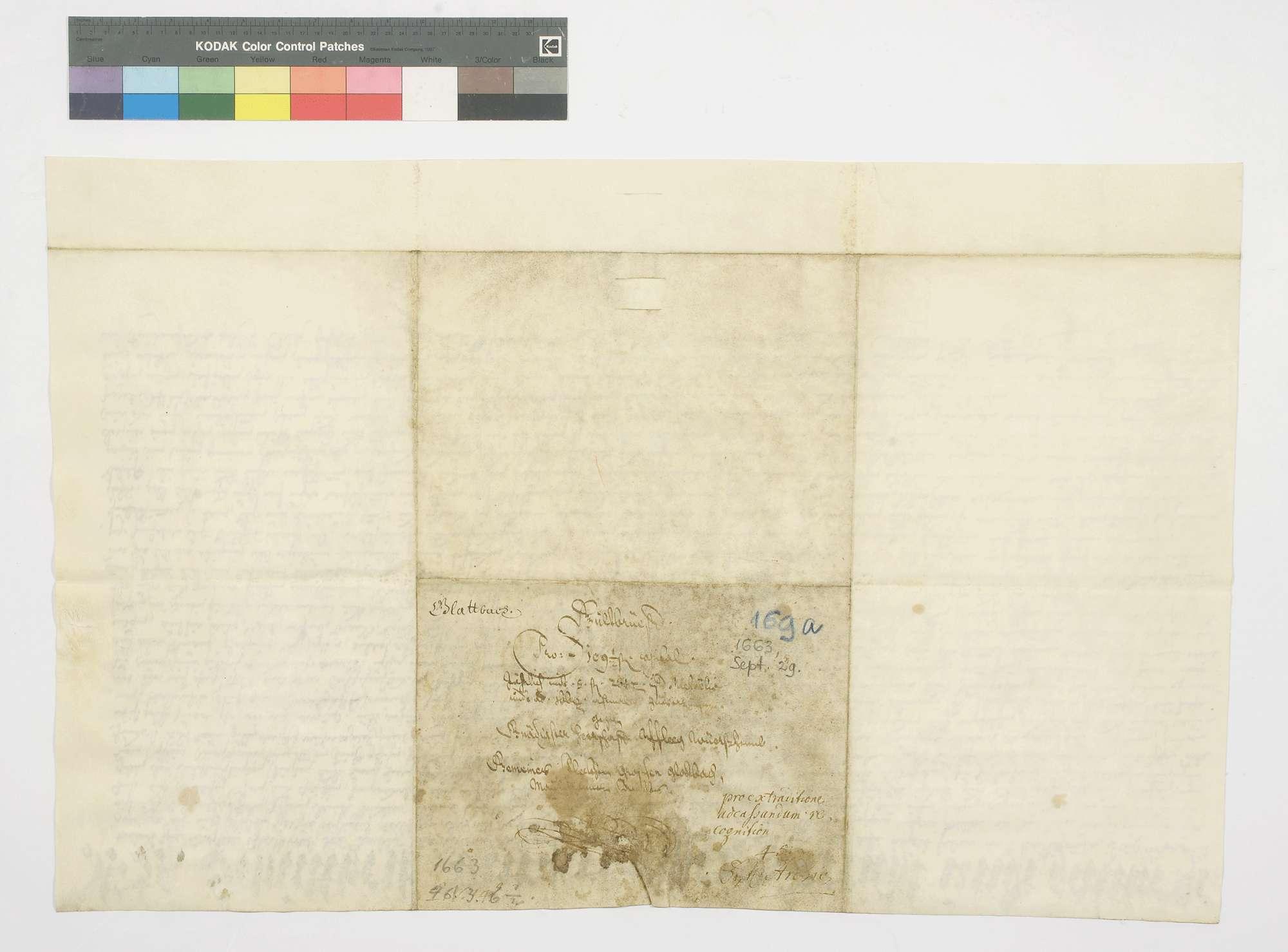 Schuldbrief der Gemeinde Glattbach für das herzogliche Amt Wiernsheim über 109 Gulden 30 Kreuzer Kapital, für welches der Gemeindewald Lüchthölzlein verpfändet wird., Bild 2