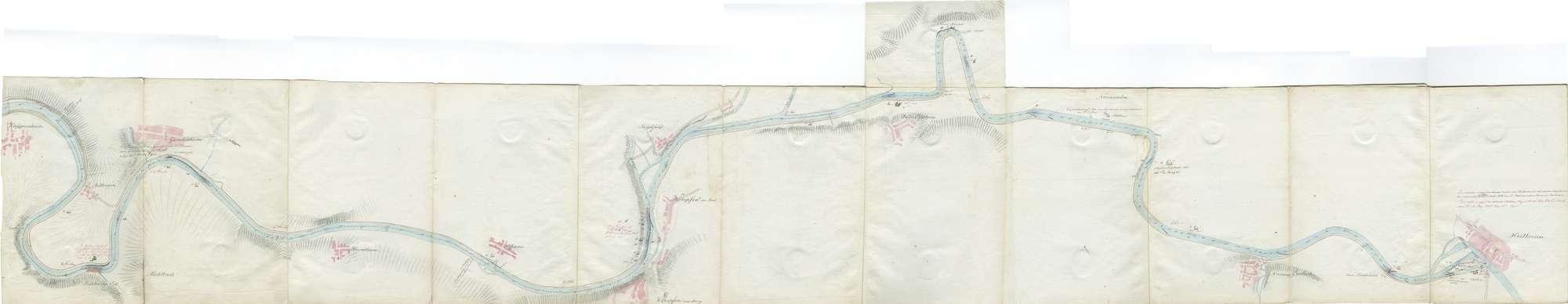 Karte über den Lauf des Neckars von Mannheim bis Heilbronn, Blatt I: Haßmersheim - Heilbronn, Bild 1