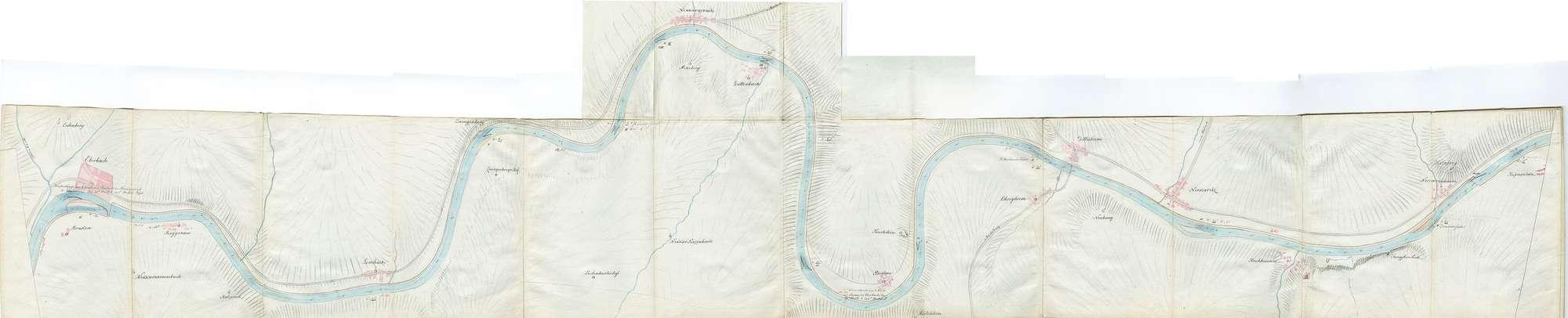 Karte über den Lauf des Neckars von Mannheim bis Heilbronn, Blatt II: Eberbach - Haßmersheim, Bild 1