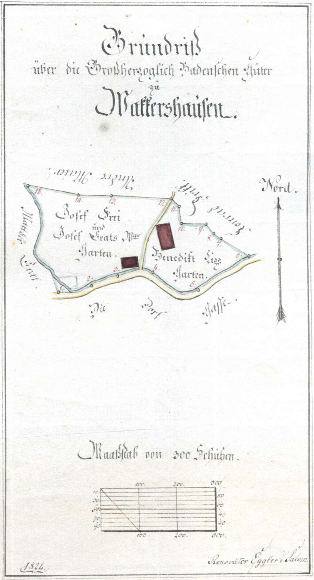 Vollzug des Staatsvertrags mit Baden vom 28. Juni 1843 zur Auflösung der Hoheitsgemeinschaft in den Orten Widdern (Landkreis Heilbronn) und Edelfingen (Main-Tauber-Kreis); Grenzberichtigung mit Baden, Bild 2