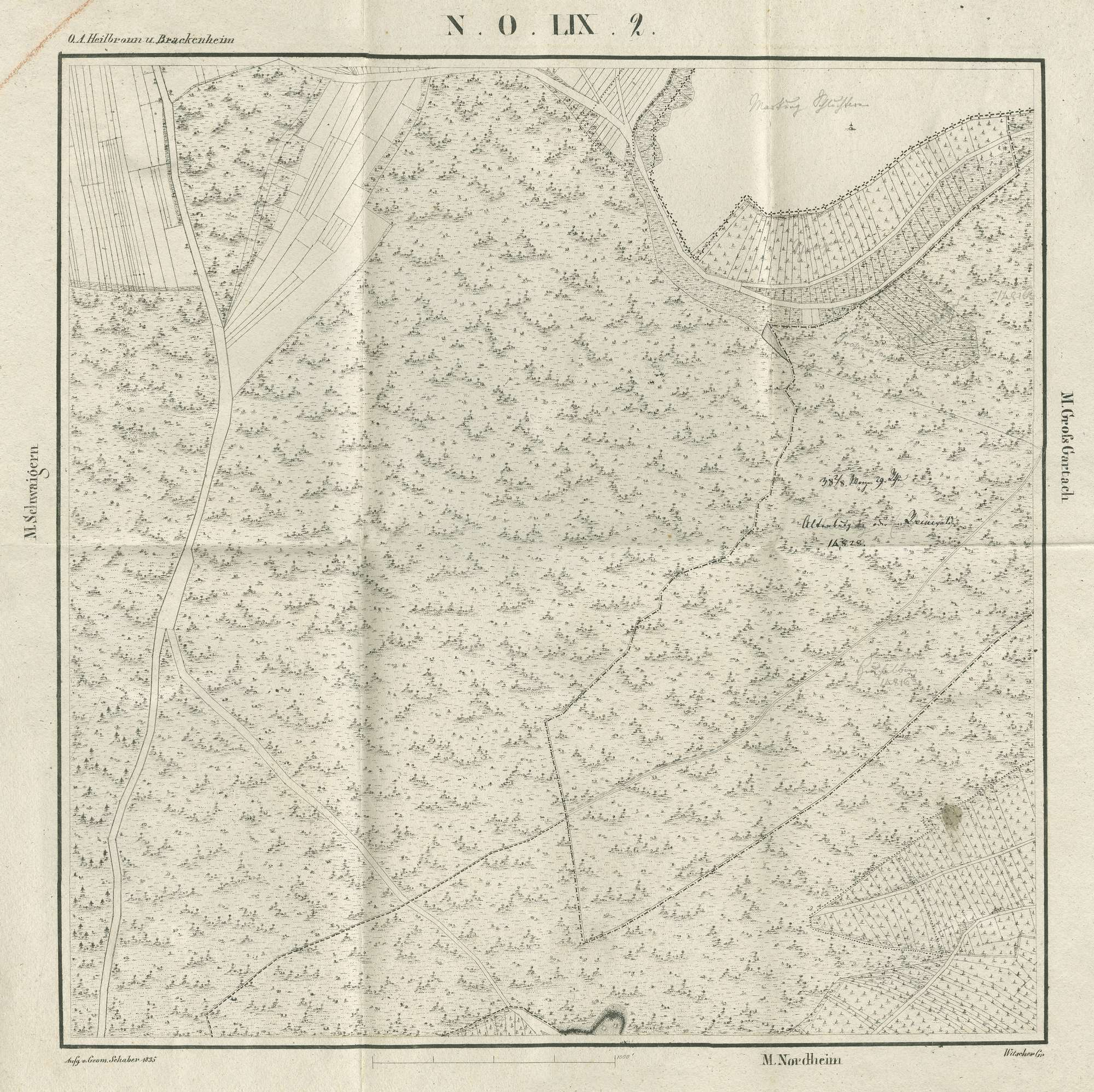 Streitigkeiten mit Baden um einzelne Grundstücke sowie deren Austausch, Grenzberichtigungen, Bild 3