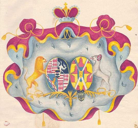 Colloredo-Mansfeld, Fürsten von Adelsverhältnisse der Philippina Karolina von Colloredo-Mansfeld und familiäre Veränderungen, Bild 1