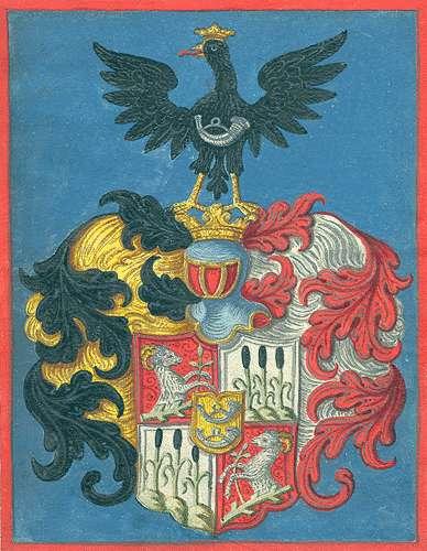 Gerbert, von Eintrag des Postverwalters Joseph Anton von Gerbert in die Adelsmatrikel, Bild 1