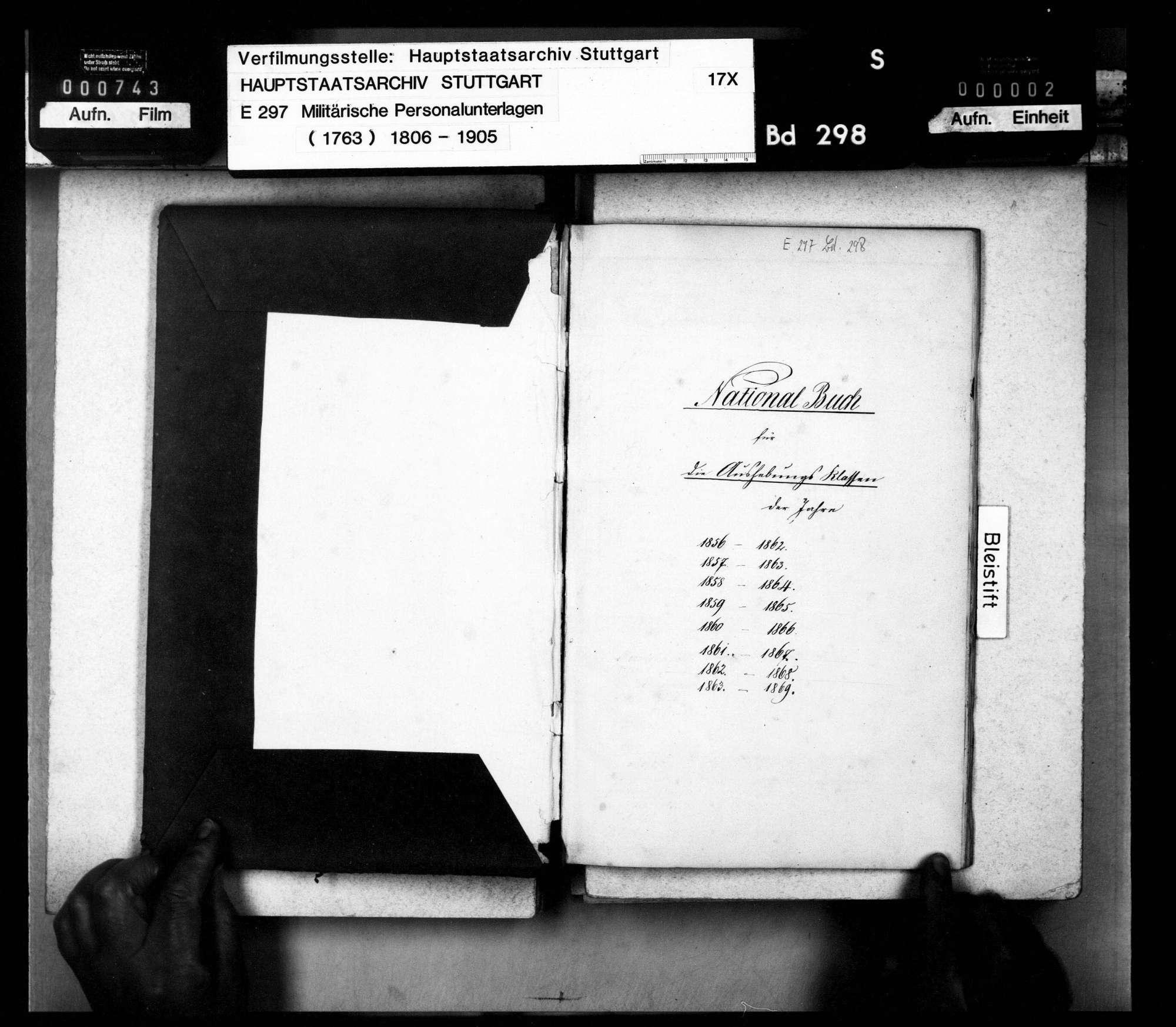 Nationalbuch der Festungsartillerie Ulm für die Aushebungsklassen der Jahre 1856 - 1863: 2. Batterie, Bild 2