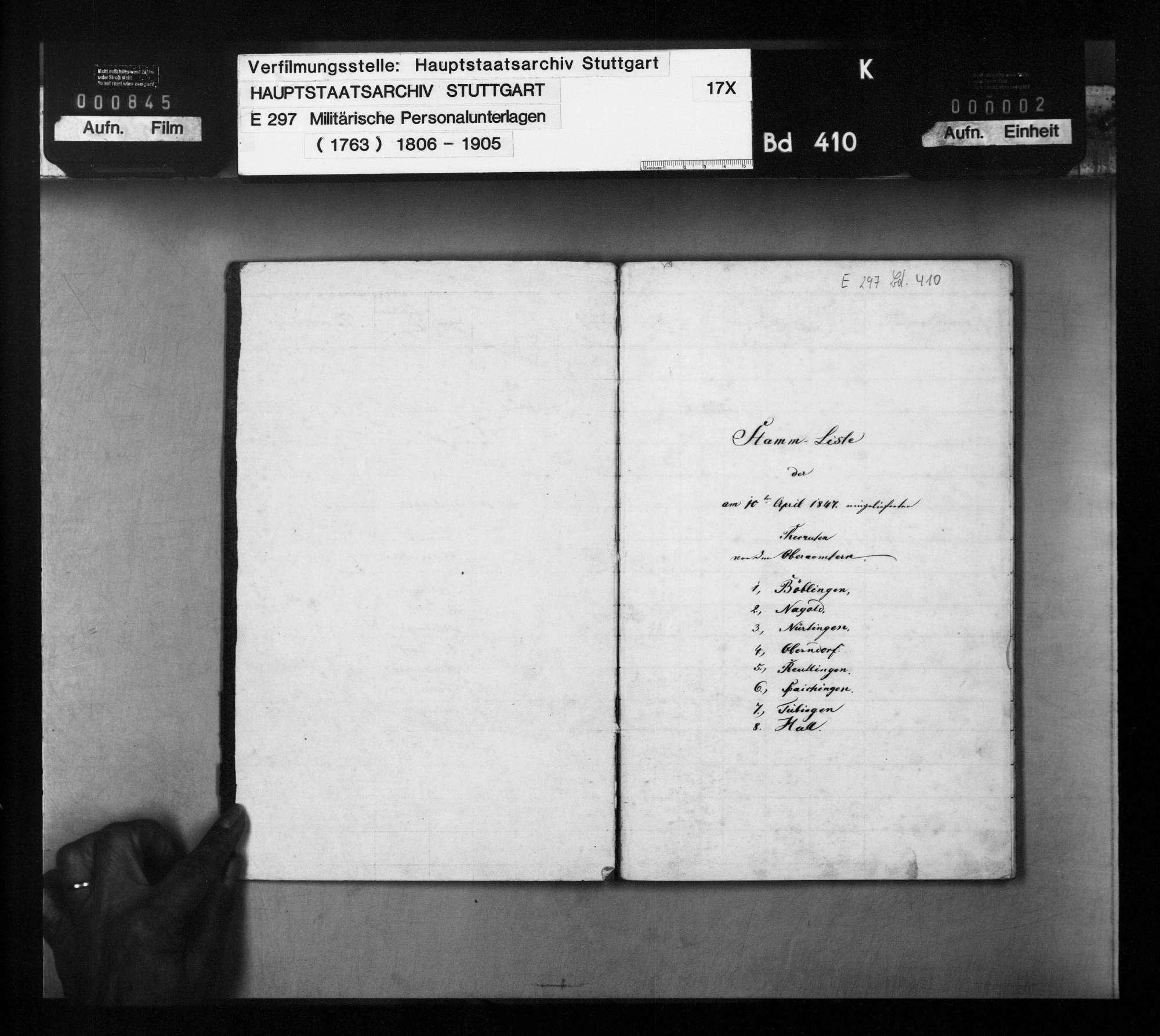 Stammliste der am 10. April 1847 beim 4. Infanterie-Regiment eingelieferten Rekruten, Bild 2