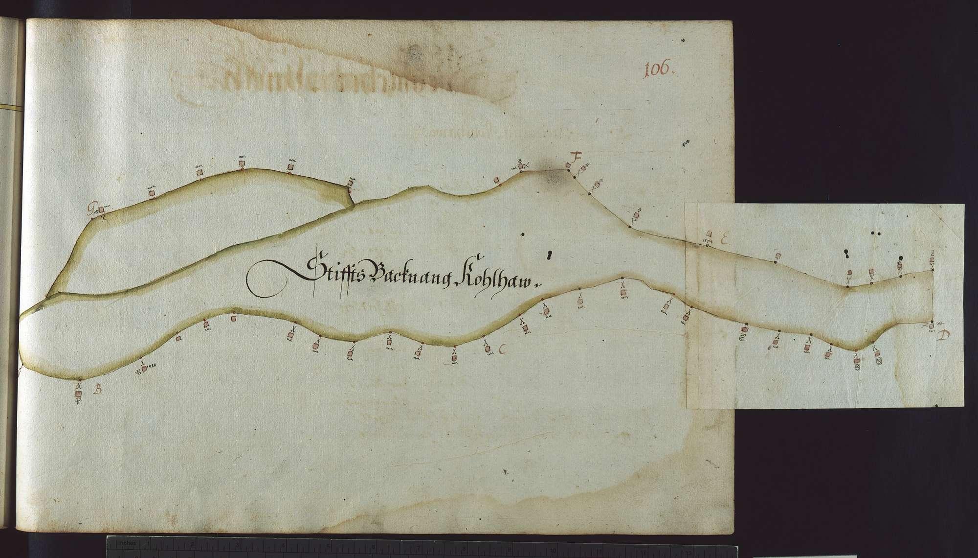 """""""Reichenberger Vorst. Erster Theil. 1685"""" (Deckelaufschrift). [Mess- und Rissbuch]., Bild 3"""