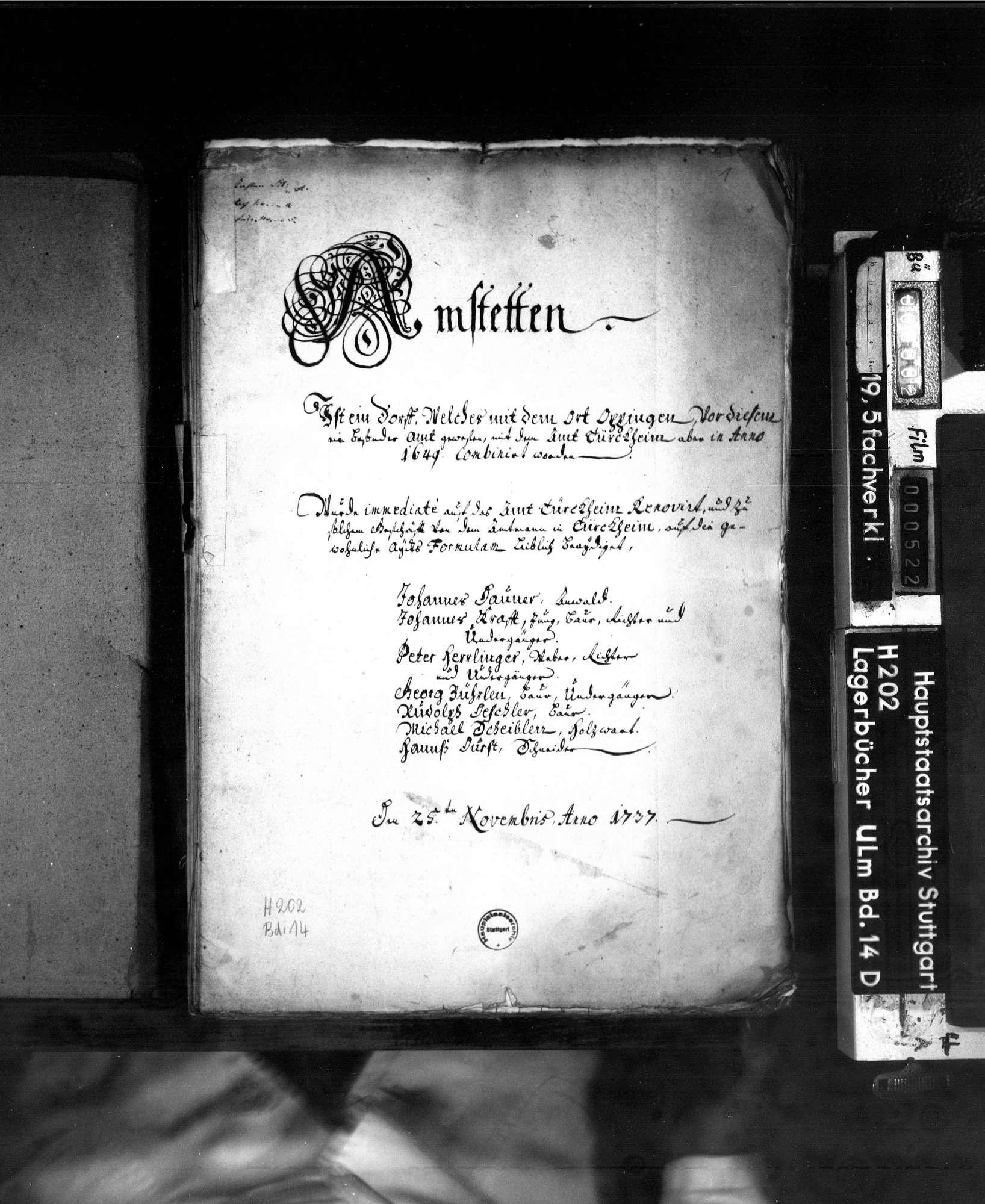 Amt Amstetten: Beibuch, Bild 2