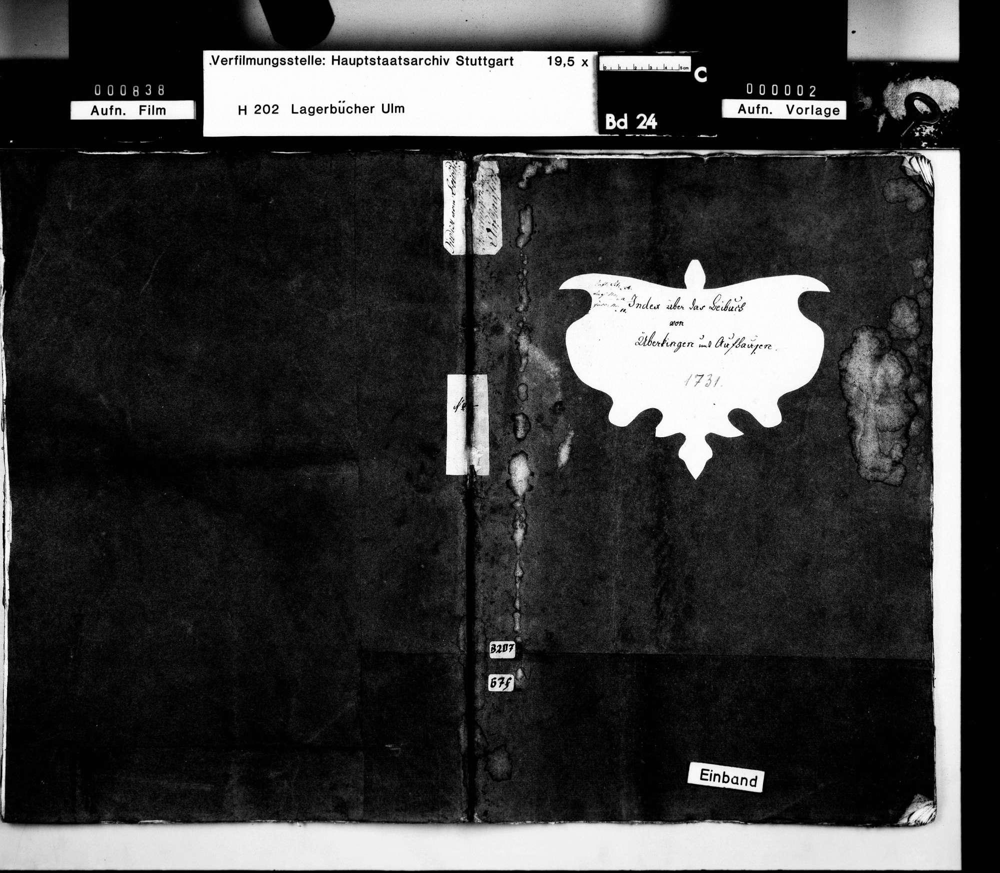 Beibuch: Amt Überkingen und Aufhausen, Register, Bild 2
