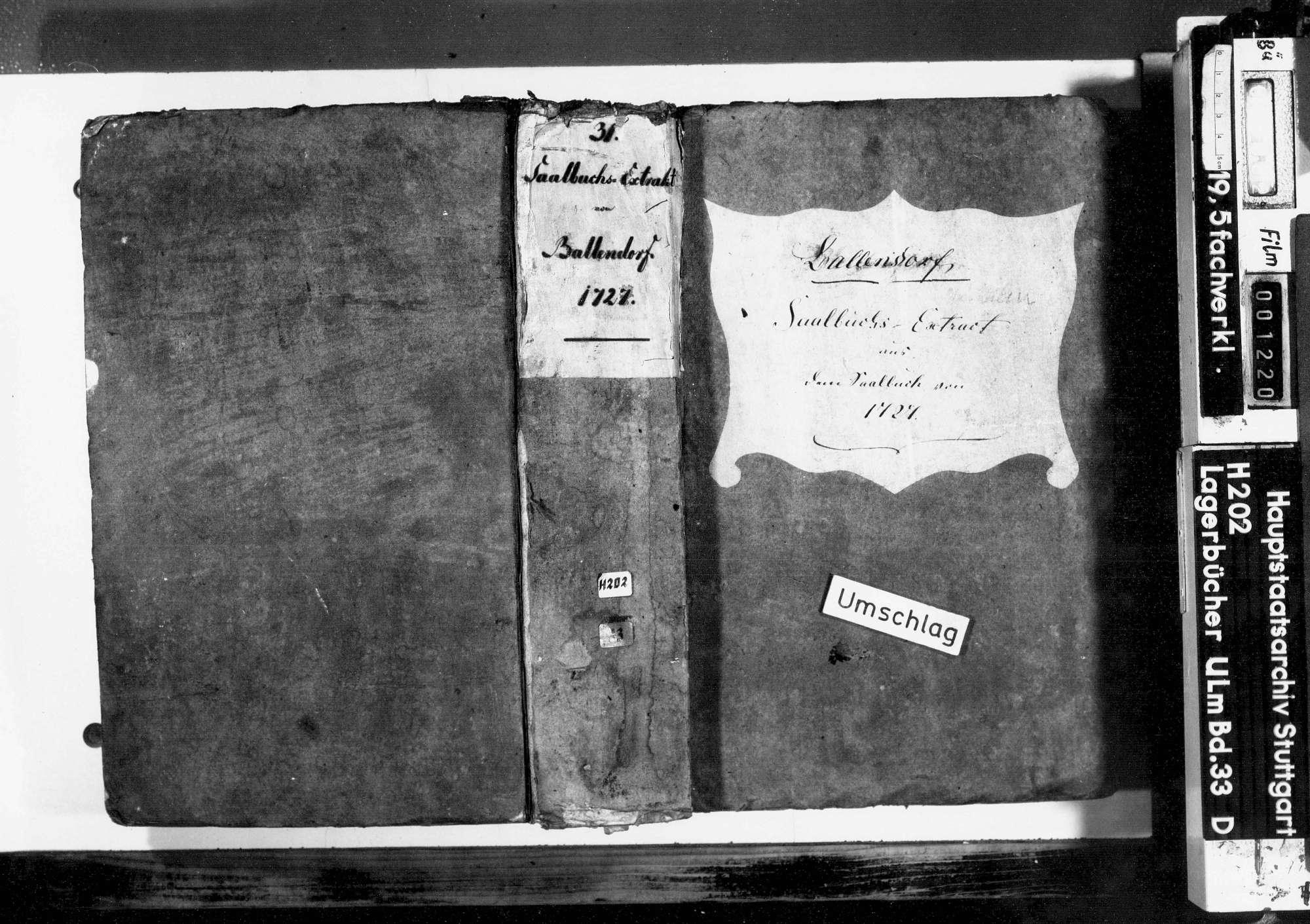Saalbuch über das Amt Ballendorf: Auszug, Bild 1