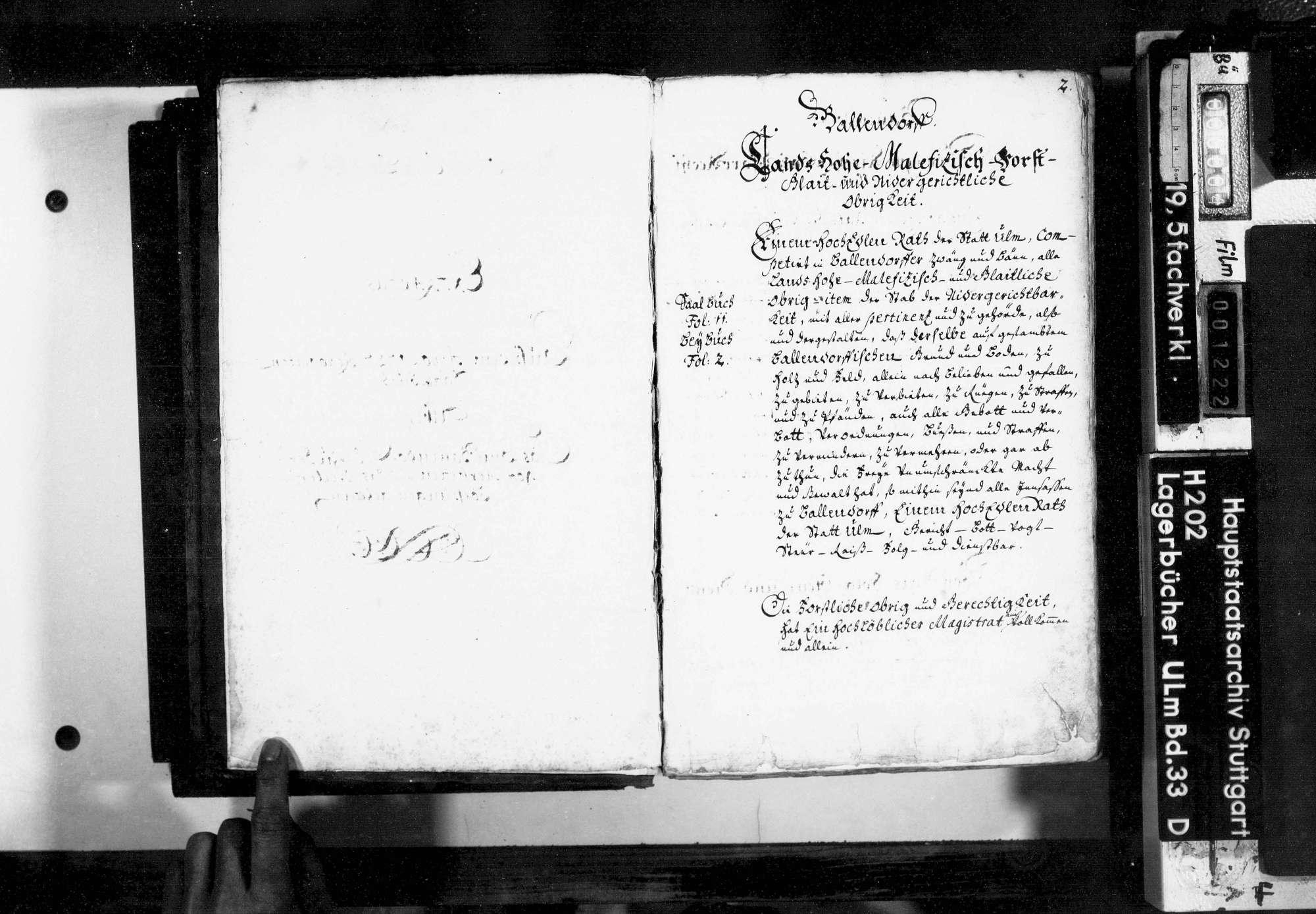Saalbuch über das Amt Ballendorf: Auszug, Bild 3