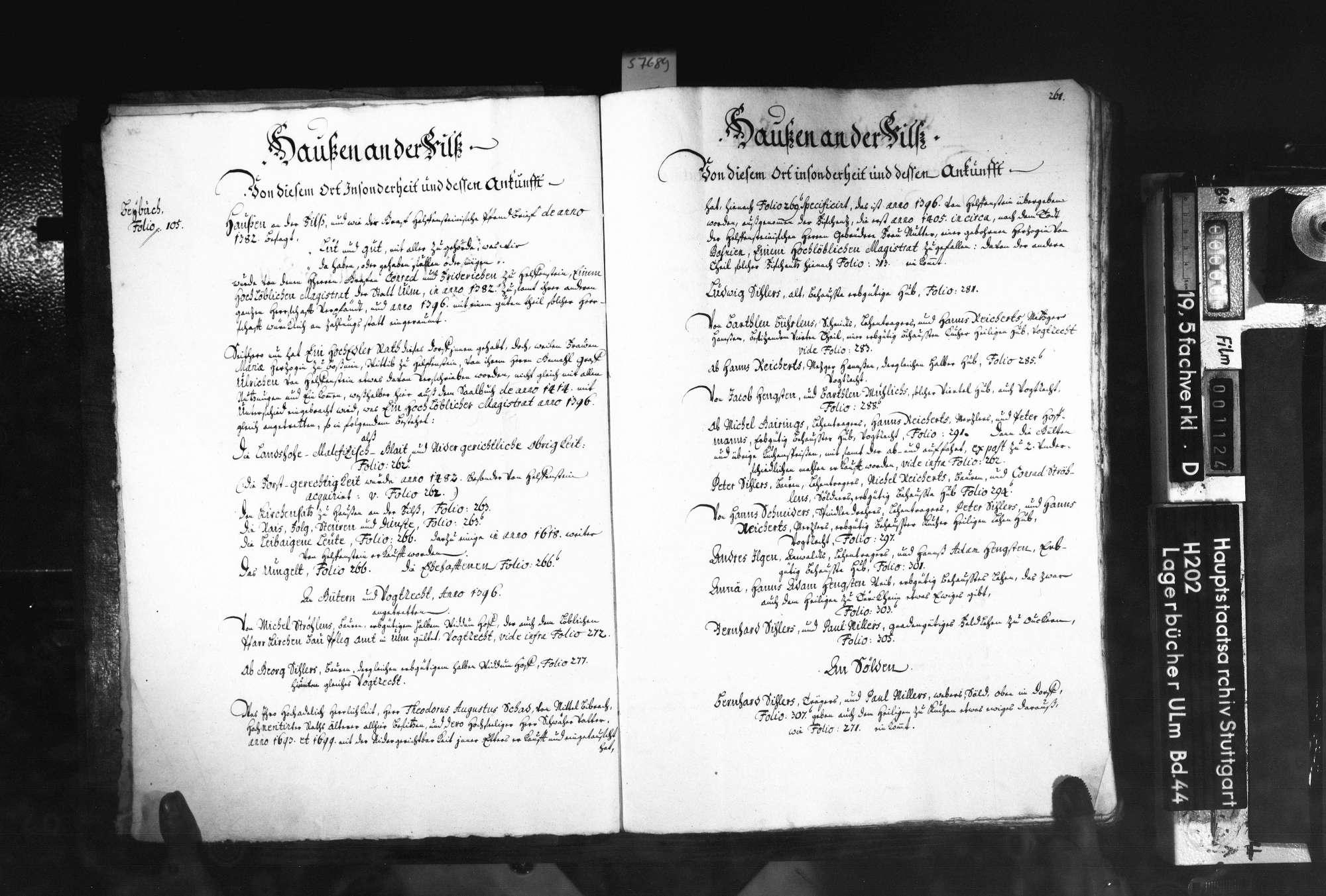 Saalbuch Hausen an der Fils mit Beibuch über das Amt Böhringen 2. Bd, Bild 3