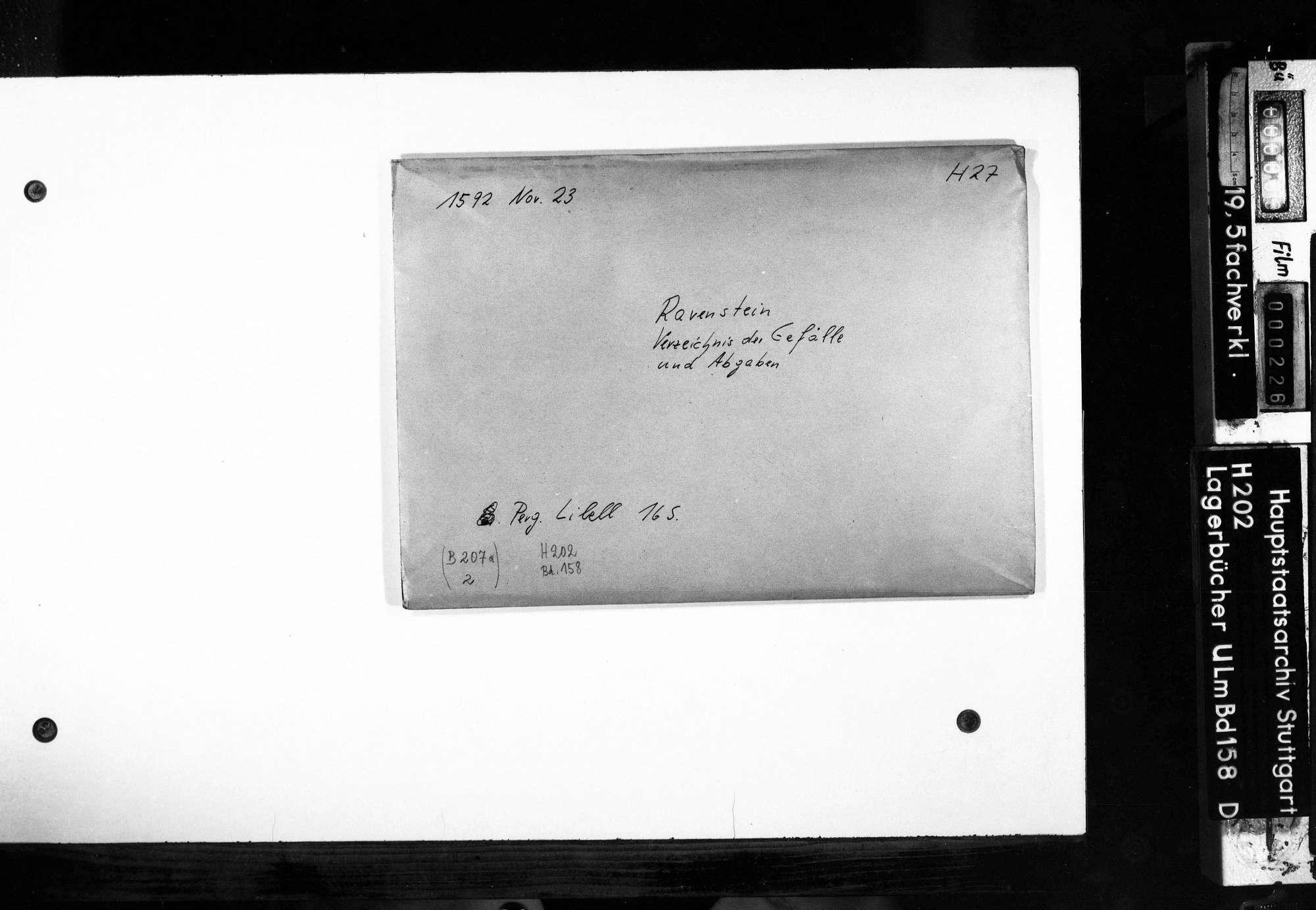 Verzeichnis der Gefälle und Abgaben von Ravenstein., Bild 2