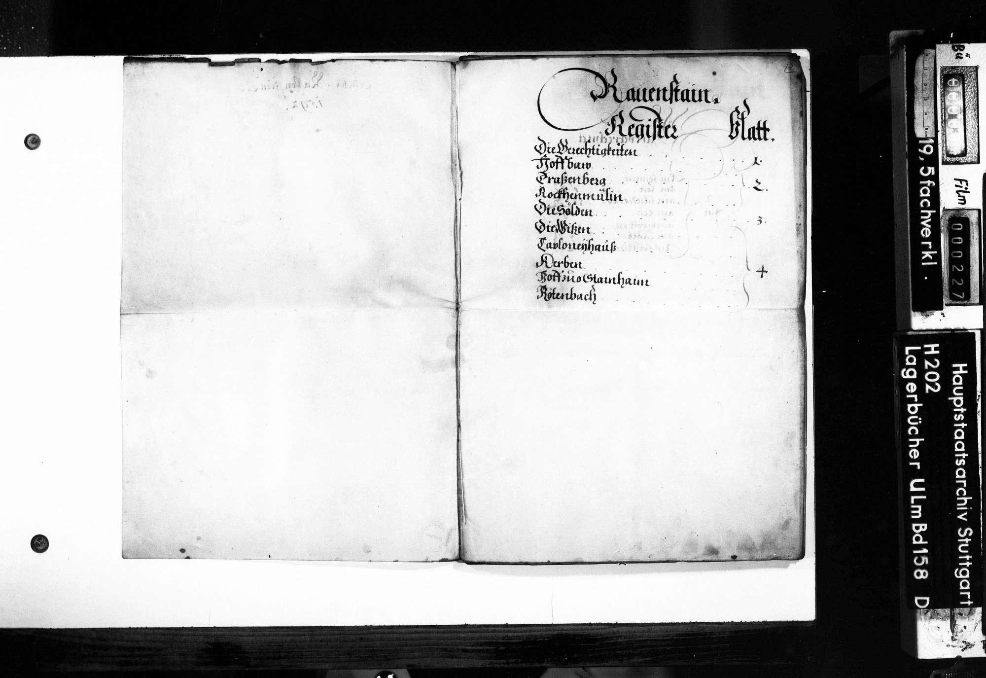 Verzeichnis der Gefälle und Abgaben von Ravenstein., Bild 3