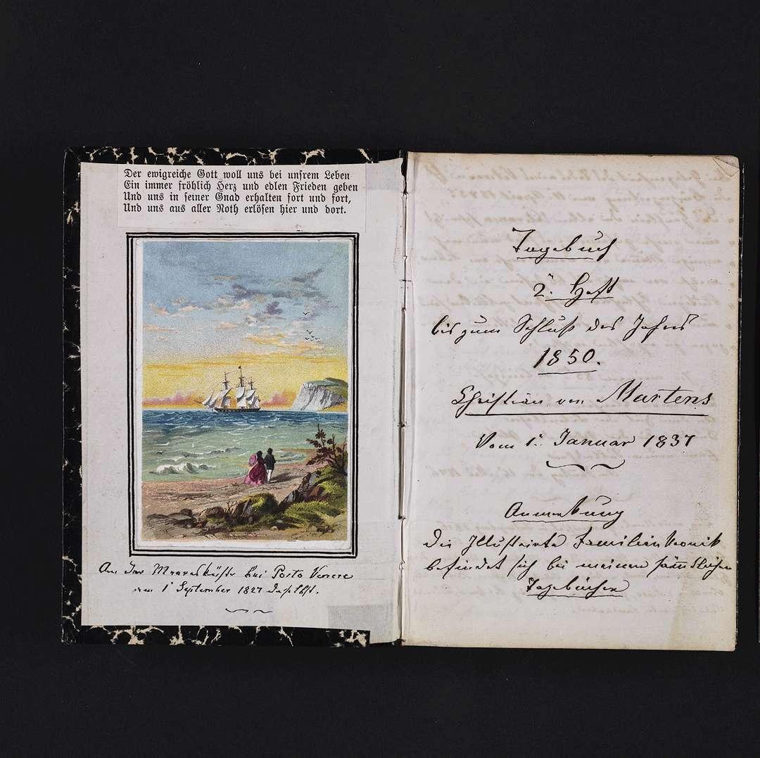 """""""Tagebuch 1837-1850"""", Bild 1"""
