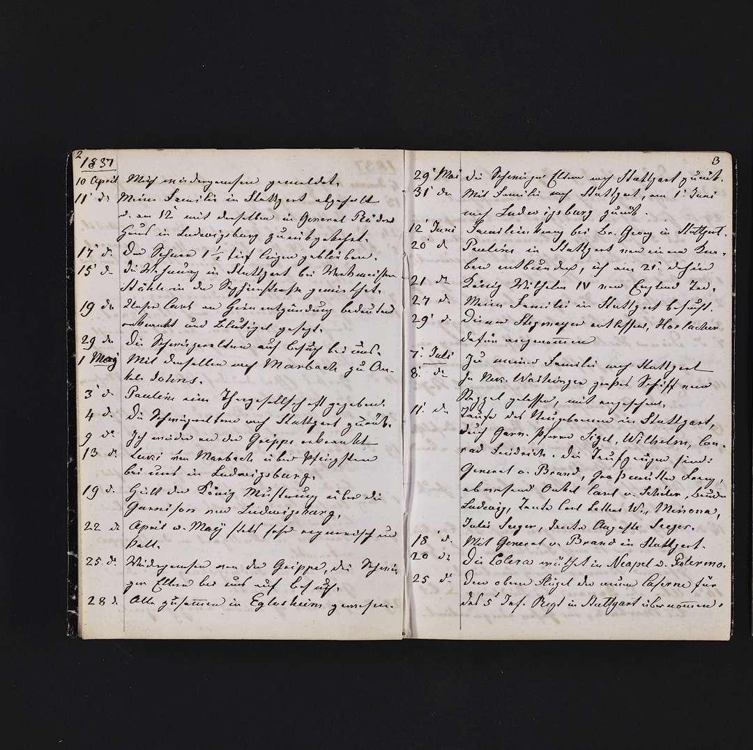 """""""Tagebuch 1837-1850"""", Bild 3"""