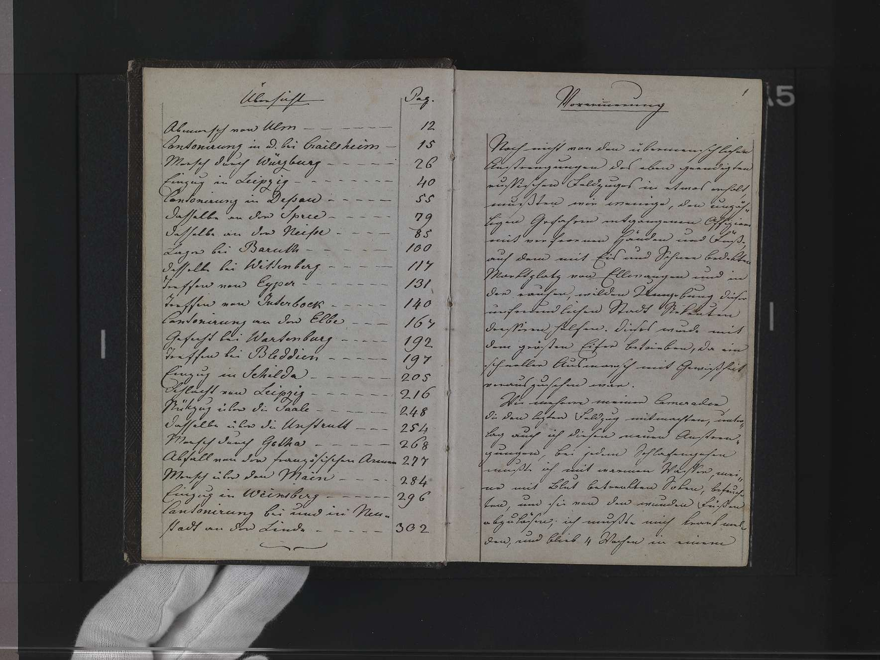 """Band 3: """"Christian v(on) Martens. Lieutenant beim 6. Linien-Infanterie-Regiment, Tagebuch meines Fedlzuges gegen Preußen 1813"""", Bild 2"""