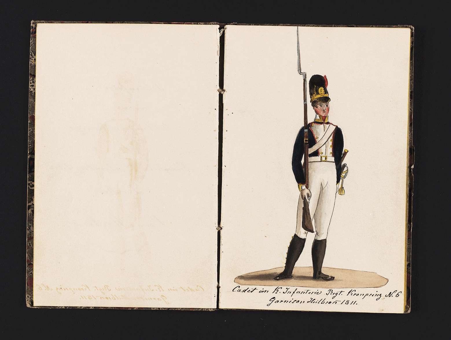 """""""Christian von Martens: Reihenfolge meines militärischen Anzuges in Königlich Württembergischen Diensten."""", Bild 2"""