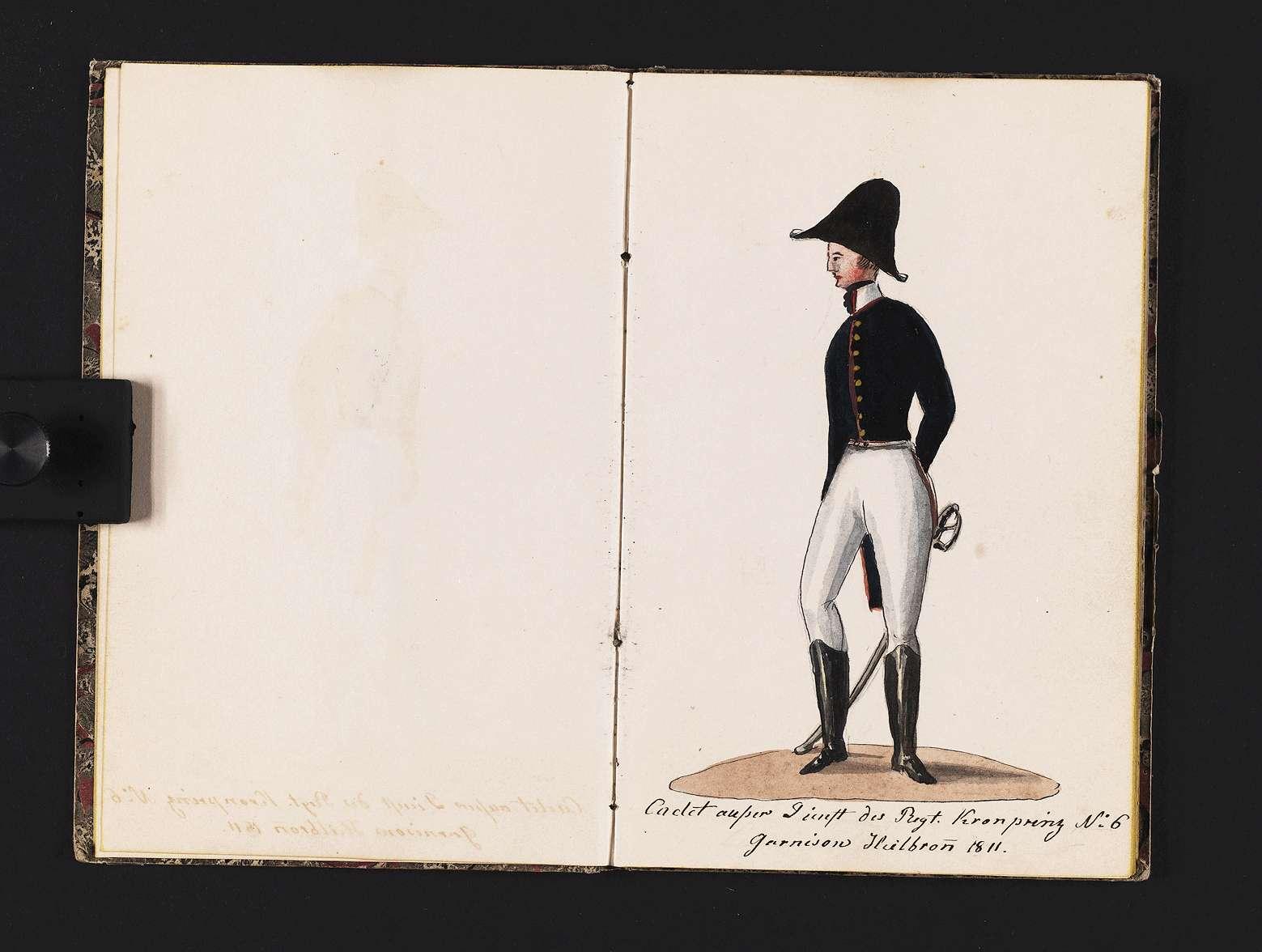 """""""Christian von Martens: Reihenfolge meines militärischen Anzuges in Königlich Württembergischen Diensten."""", Bild 3"""