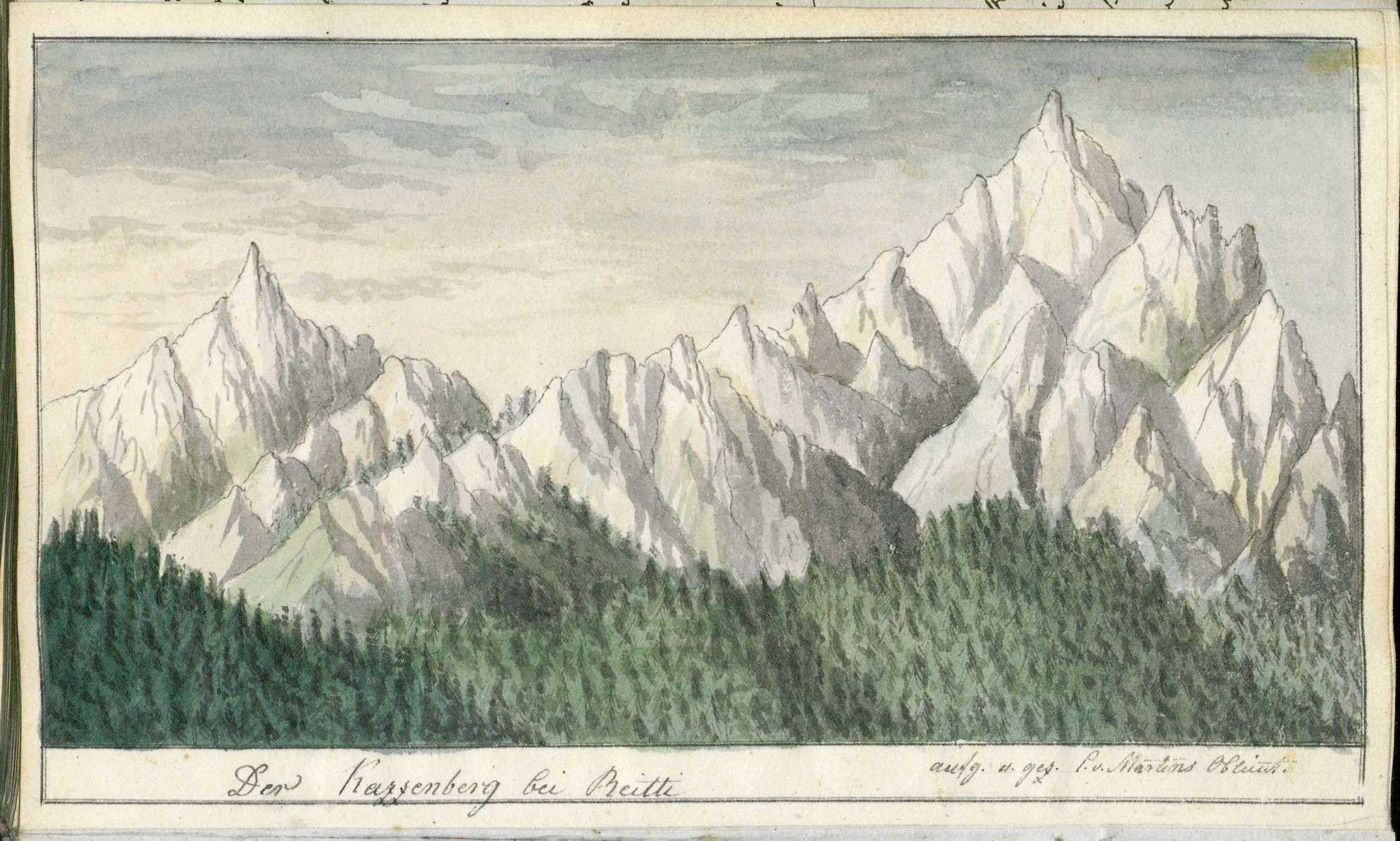 Tagebuch von Christian von Martens über seine Reise nach Venedig, seinen Aufenthalt dort und die Rückreise im Sommer 1816, Bild 2