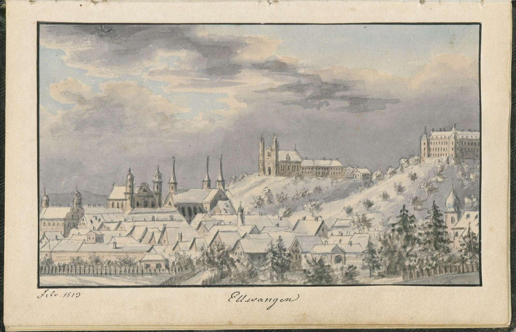 """Band 3: """"Tagebuch meines Feldzuges in Sachsen 1813, Christian v(on) Martens. Lieutenant in K(öniglich) Würtembergischen Diensten"""", Bild 2"""