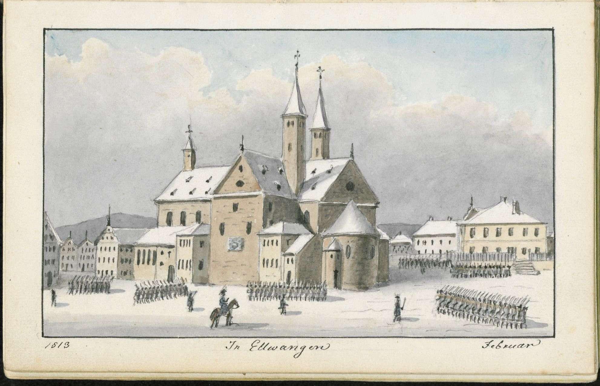 """Band 3: """"Tagebuch meines Feldzuges in Sachsen 1813, Christian v(on) Martens. Lieutenant in K(öniglich) Würtembergischen Diensten"""", Bild 3"""
