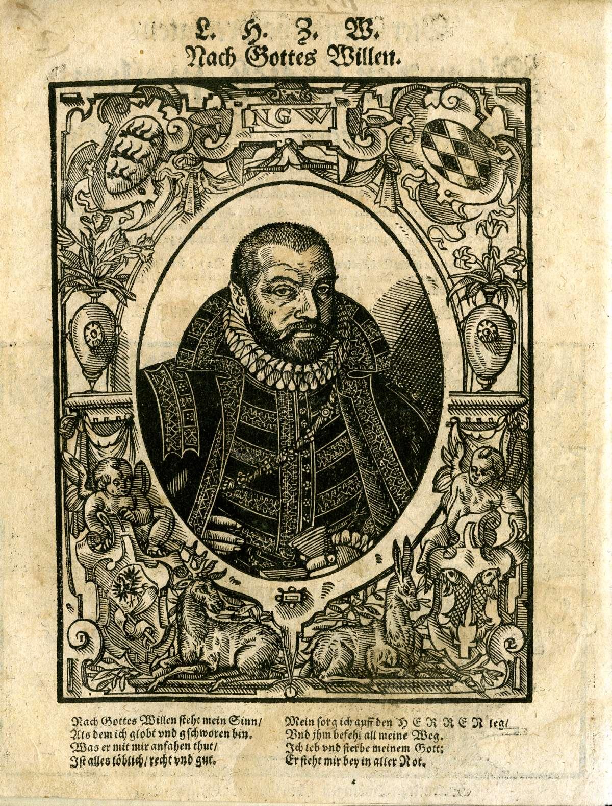 Leichenpredigten über Mitglieder des Hauses Württemberg, Ludwig Herzog von Württemberg