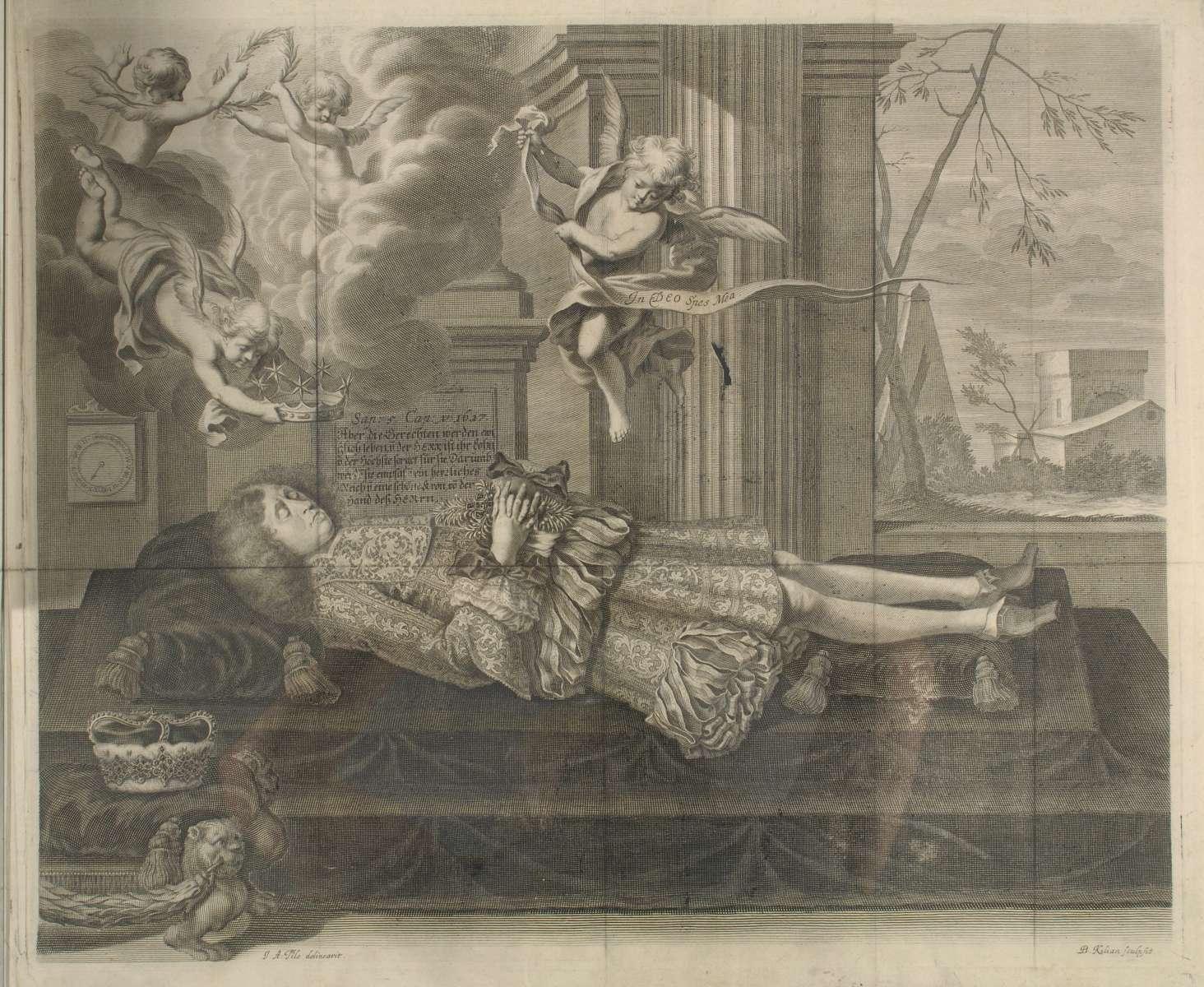 Leichenpredigten über Herzog Wilhelm Ludwig von Württemberg (geb. 7. Jan. 1647, gest. 23. Juni 1677, regierend 1674-1677), Bild 2