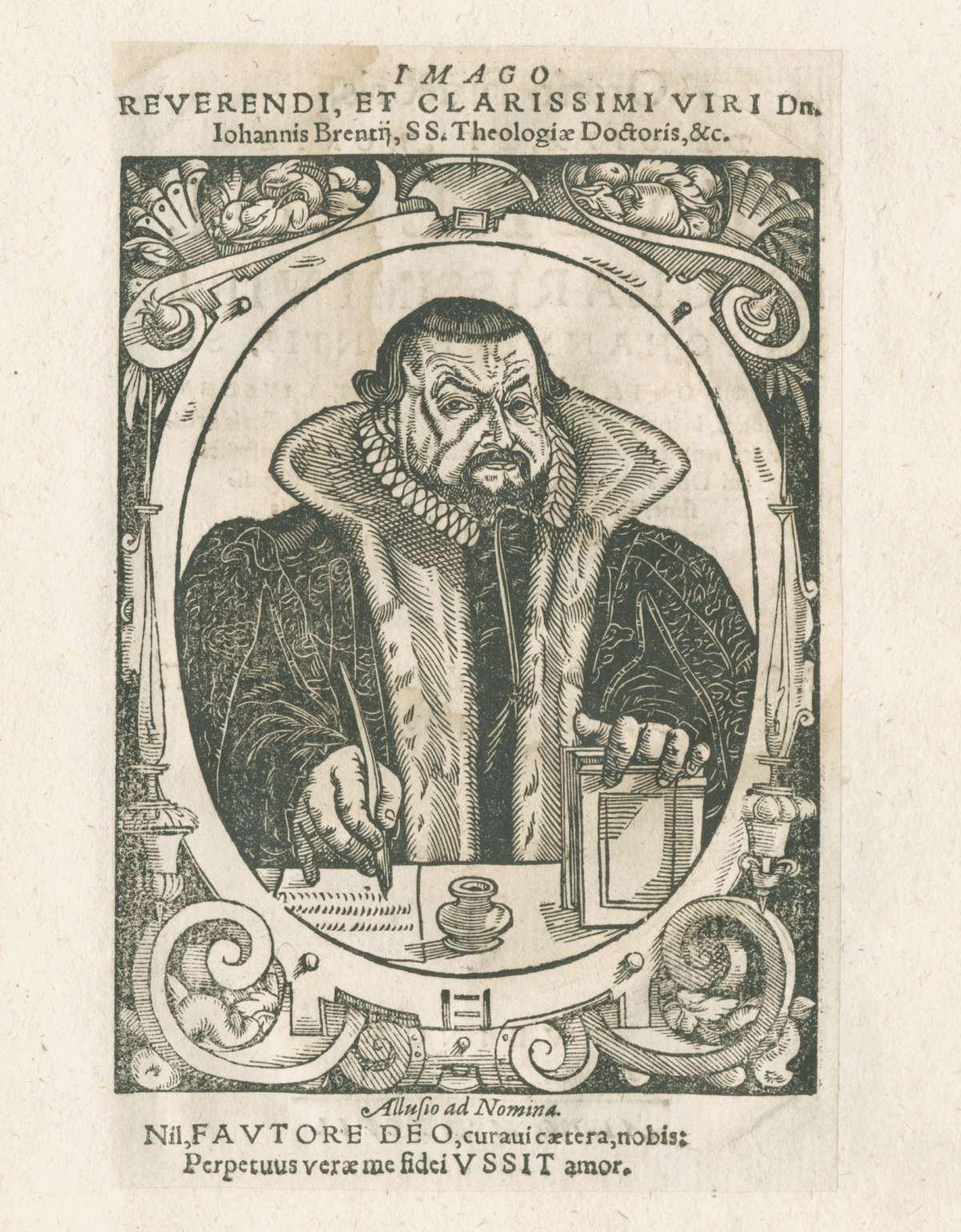 Leichenpredigten zu Mitgliedern der Familien Breitenbach, Breitschwert, Brenner, Breuning, Brenz, und Breyer, Bild 1