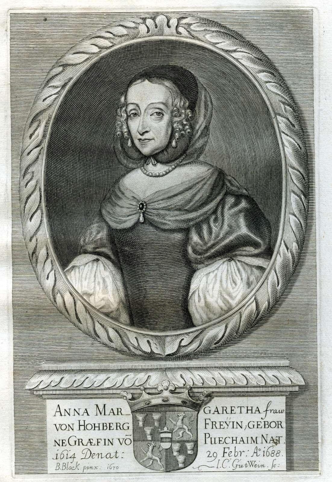 Leichenpredigten zu Mitgliedern der Familien Hofstetter, von Hocheck zu Vilseck, von Hohberg, Hoffmann Hösch und Hörner, Bild 2