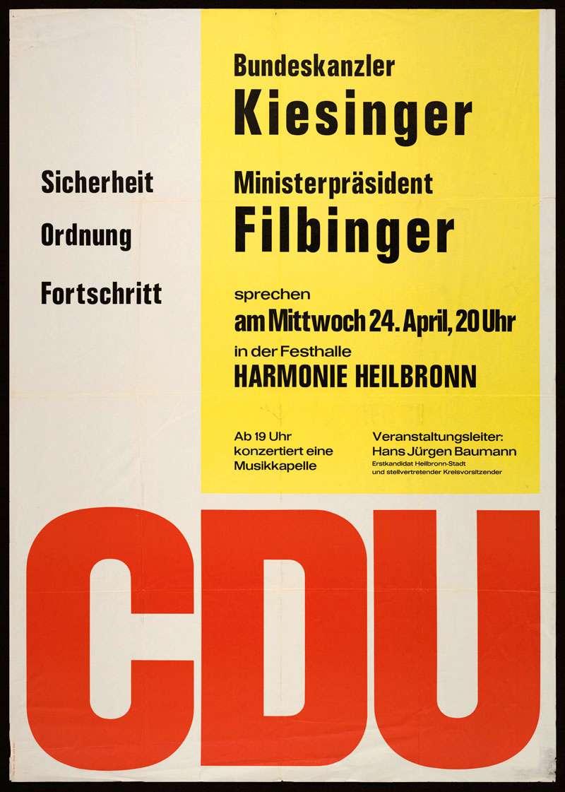 Kiesinger Kurt Georg - Detailseite - LEO-BW