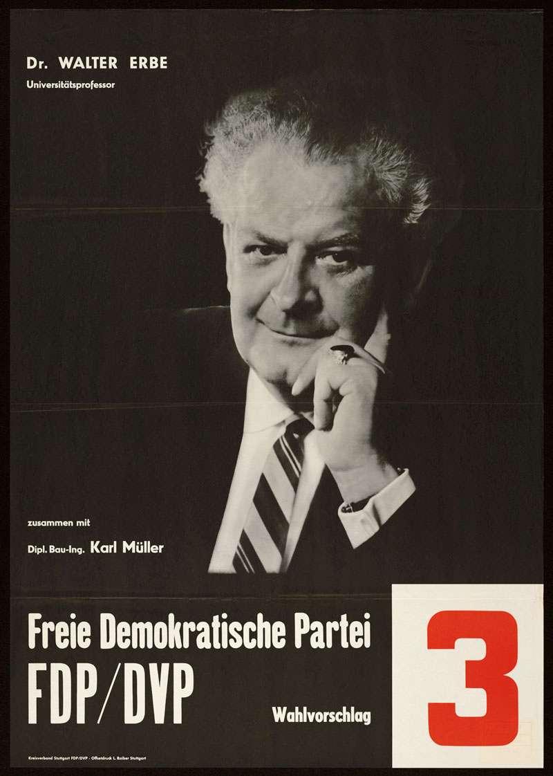FDP/DVP - Freie Demokratische Partei, Landtagswahl 1960, Bild 1