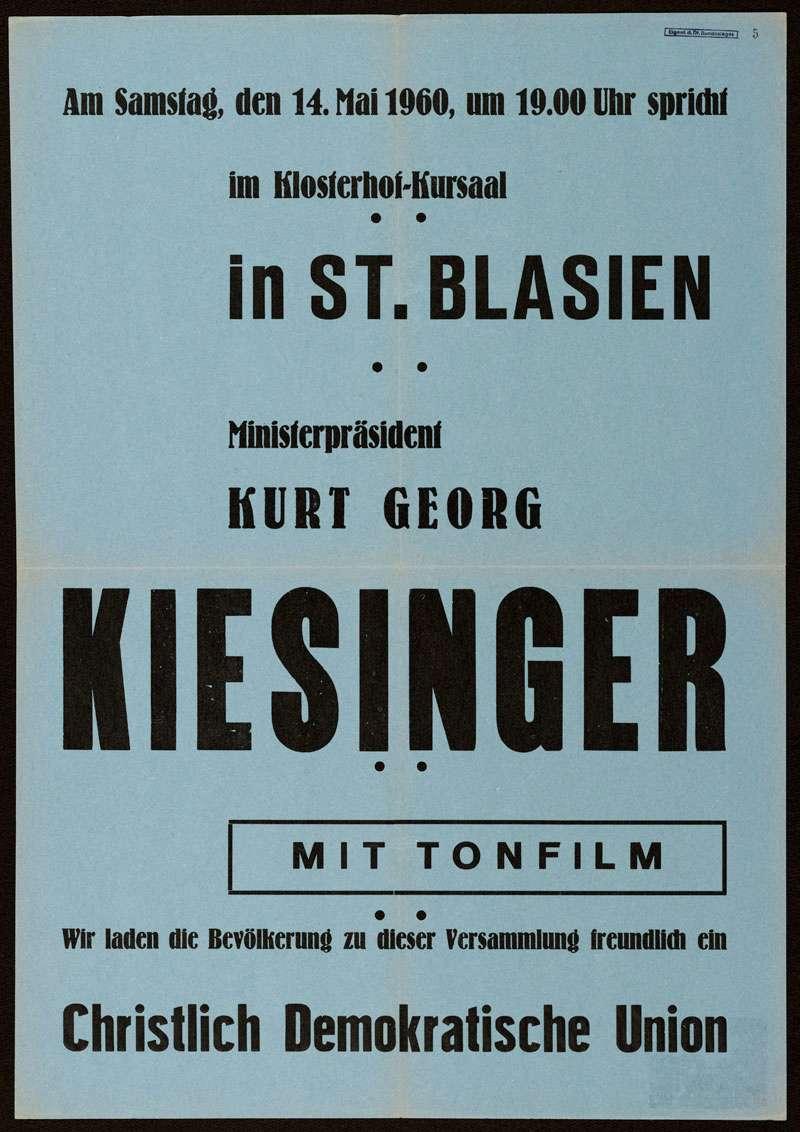 CDU - Christlich Demokratische Union, Landtagswahl 1960, Bild 1