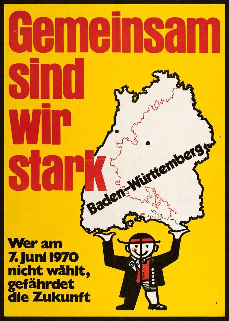 [Volksentscheid über den Fortbestand des Landes Baden-Württemberg im Gebietsteil Baden am 7. Juni 1970], Bild 1
