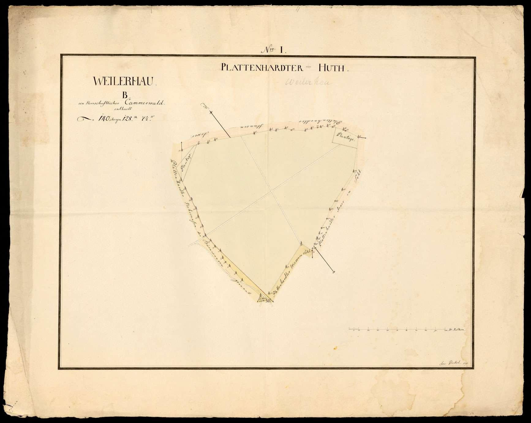 [Plattenhardter Hut: herrschaftlicher Kammerwald Nro. I B Weilerhau], Bild 1