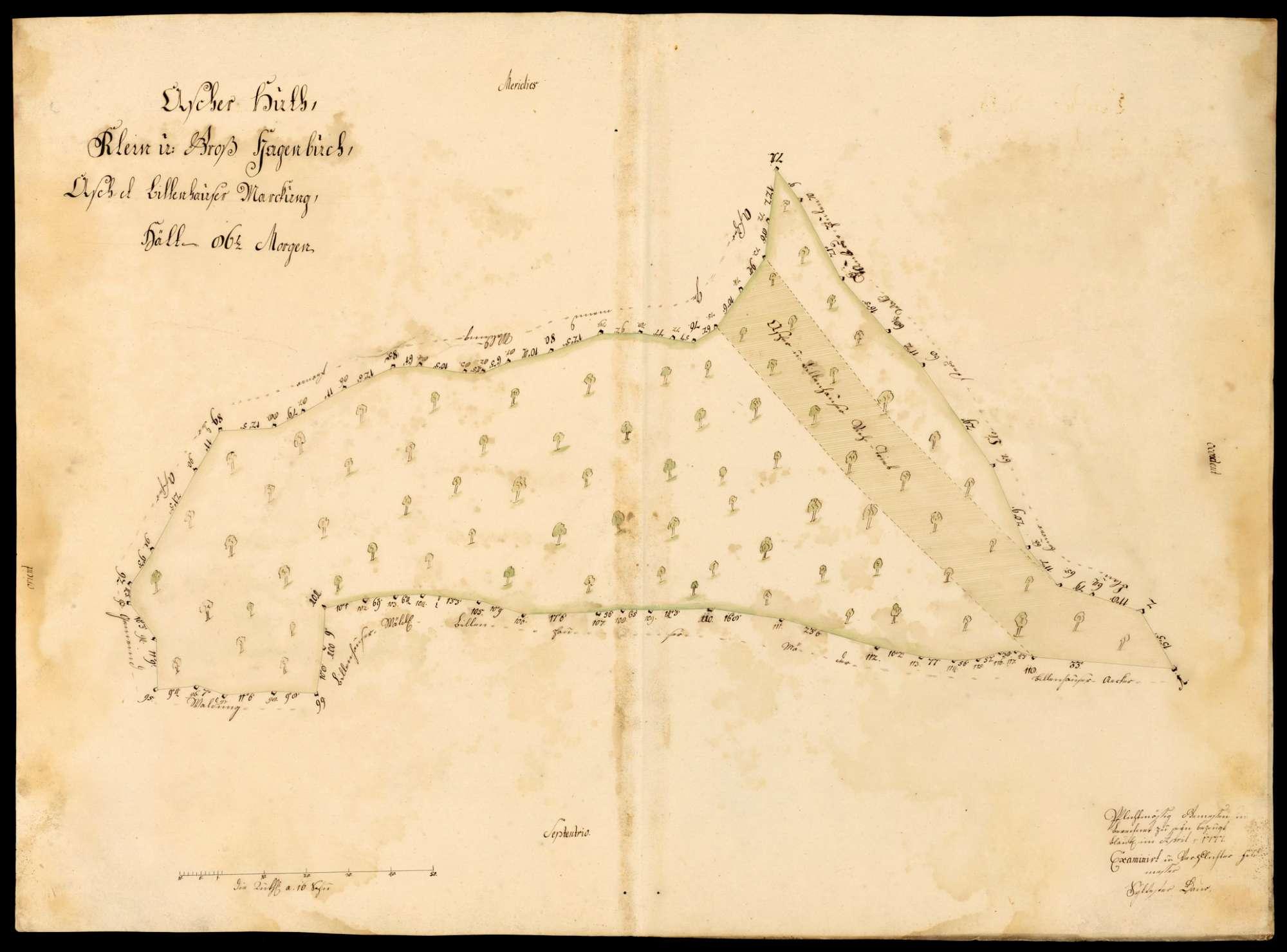 """[Kloster Blaubeuren:] """"Ascher Hut, Klein- und Großhagenbuch, Ascher und Bühlenhauser Markung"""", Bild 1"""