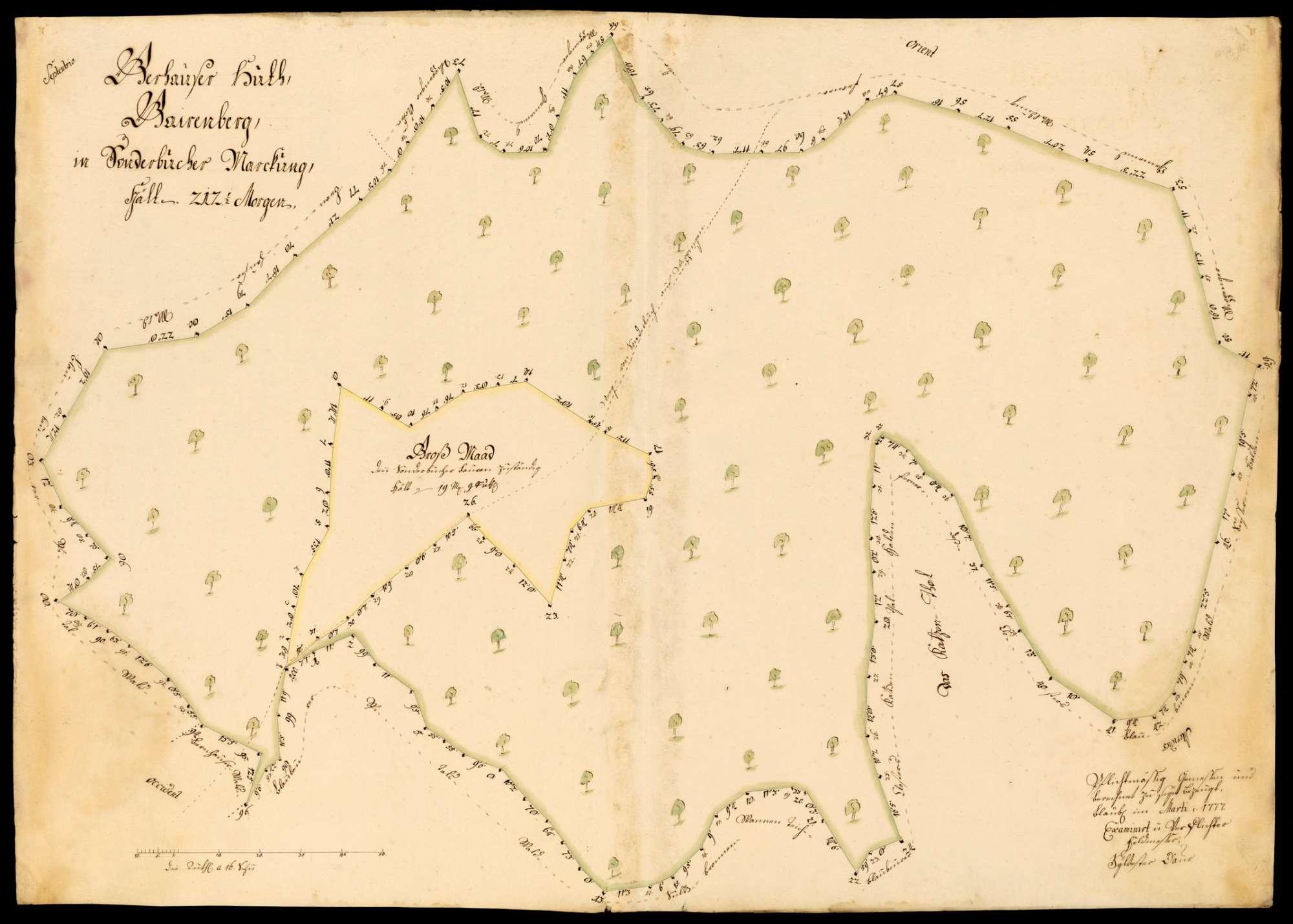 """[Kloster Blaubeuren:] """"Gerhauser Hut, Gairenberg, in Sonderbucher Markung"""", Bild 1"""