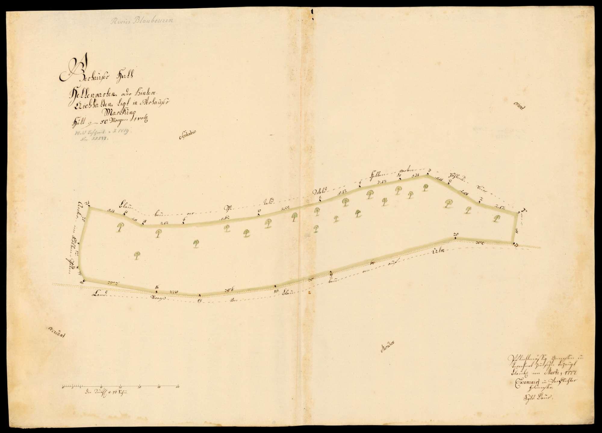 """[Kloster Blaubeuren:] """"Gerhauser Hut, Hellenparten oder hintere Aichhalden, liegt in Gerhauser Markung"""", Bild 1"""