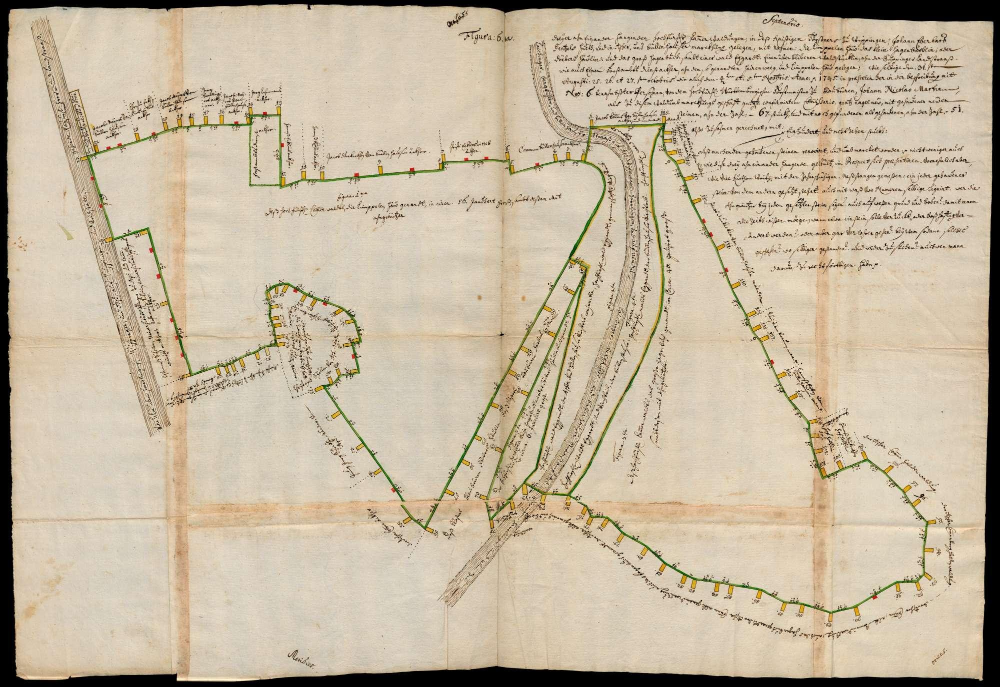 """""""Kammerwald Lempelhau, Daubershäule oder Kleinhagenbuch und Großhagenbuch"""" [Wippinger Hut, Ascher und Büllenhauser Markung], Bild 1"""