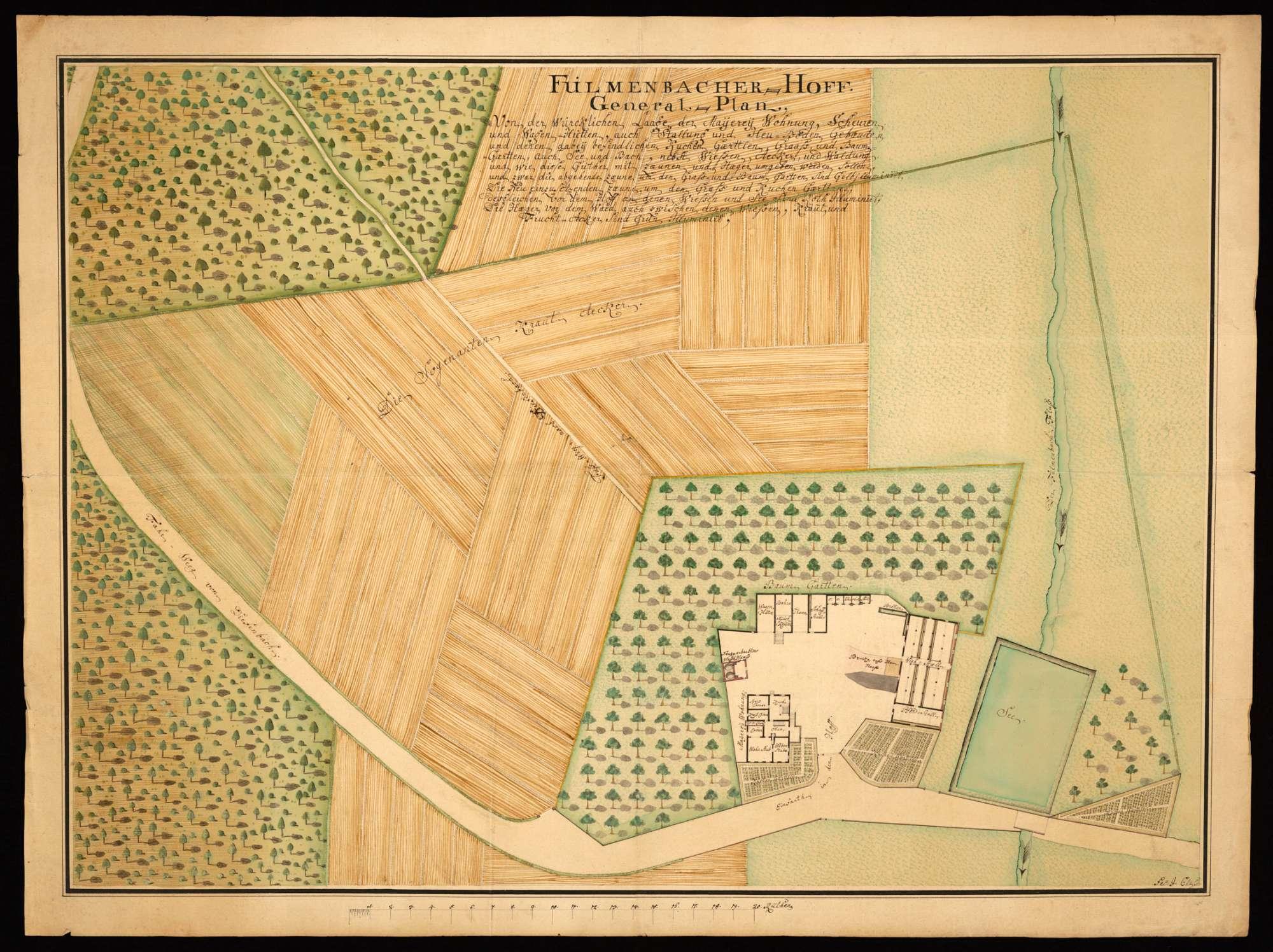 "[Sternenfels] ""Fulmenbacher Hof. Generalplan"", Bild 2"