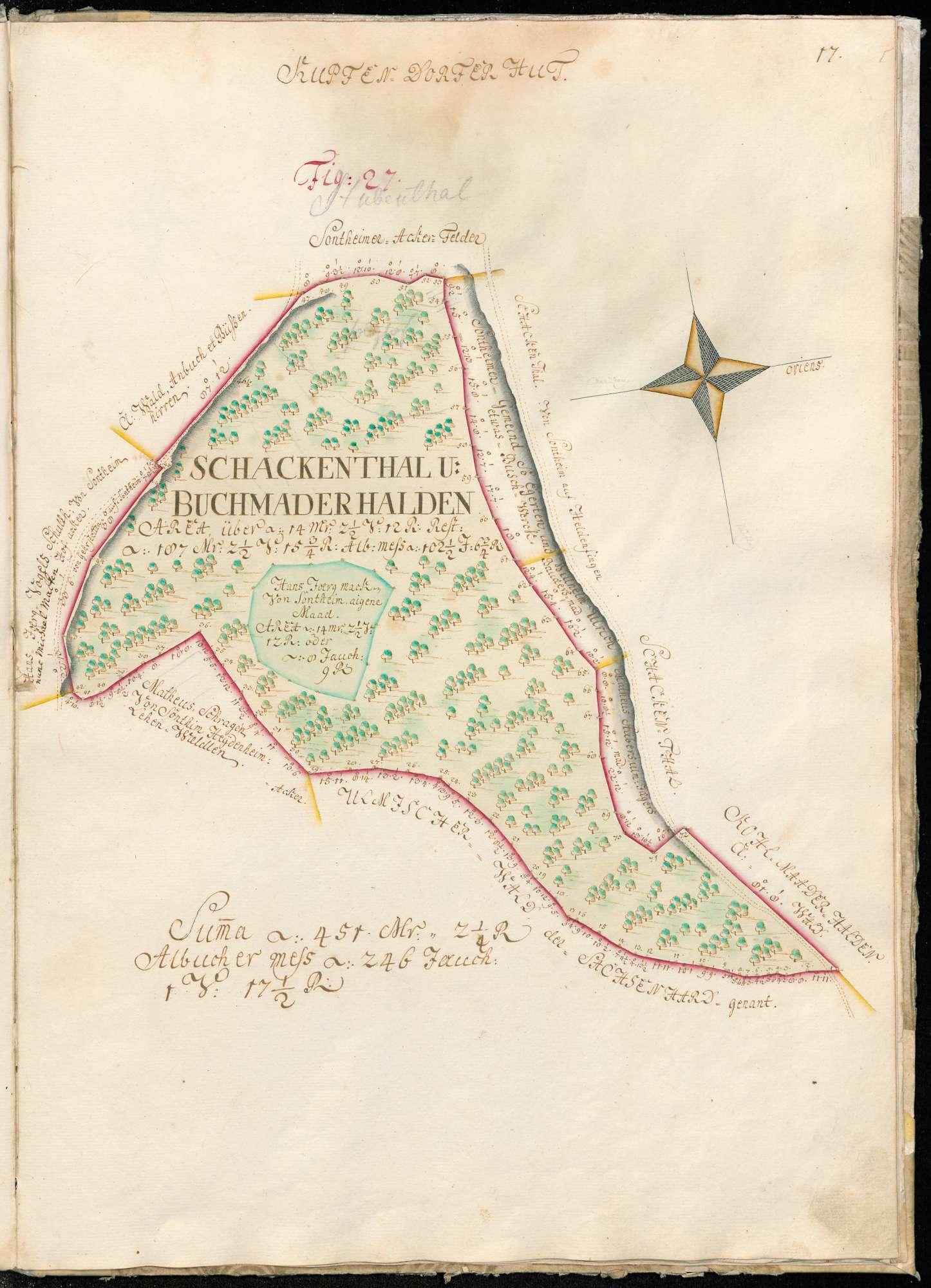 """[Küpfendorfer Hut] """"Figur 27 Schackenthal und Buchmaderhalden"""", Bild 1"""