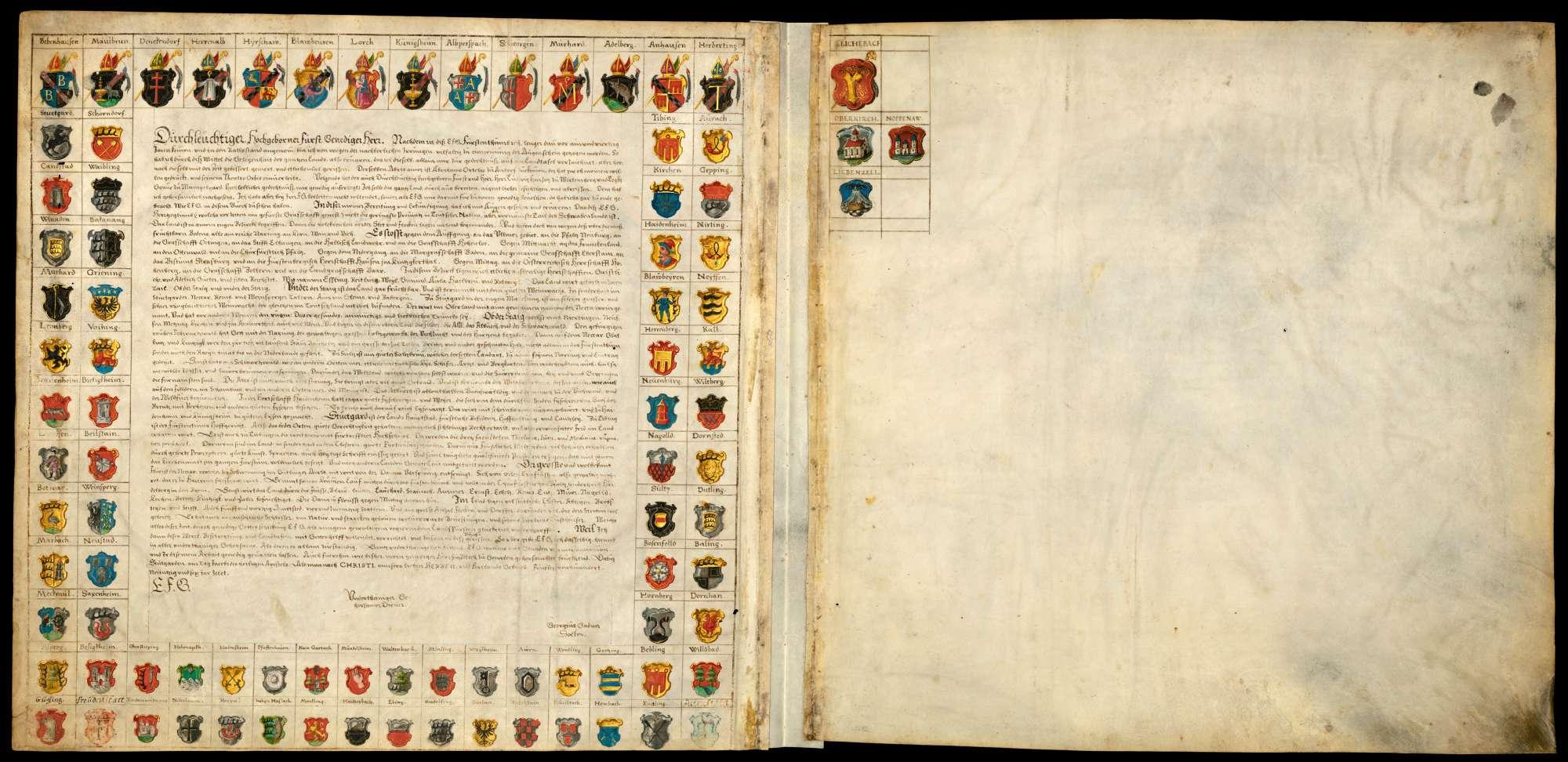 Bl. 2 v: [Widmung Georg Gadners an Herzog Friedrich I. von Württemberg vom 25. Juli 1596], Bild 1