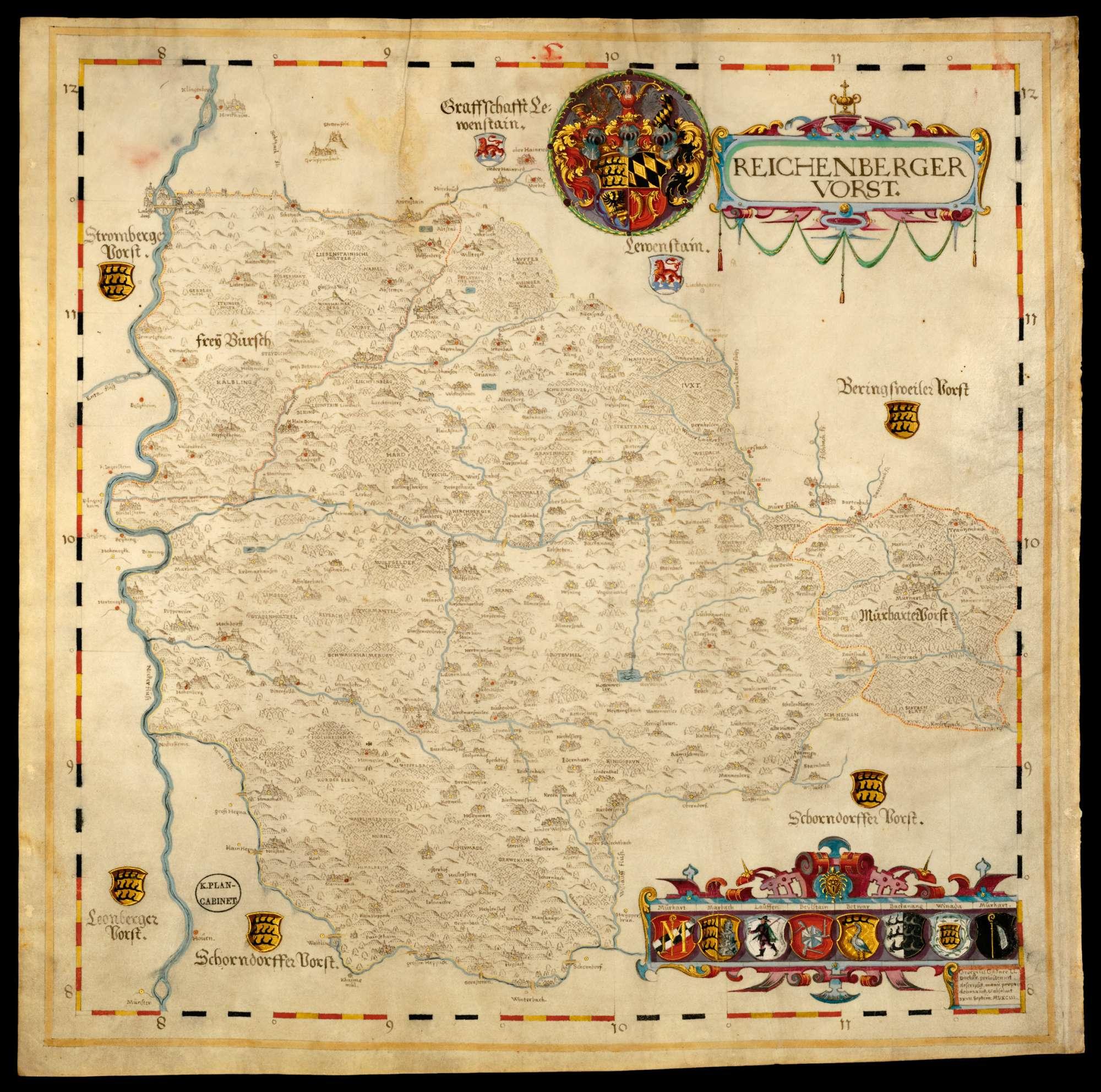 Bl. 10 v: Reichenberger Forst [mit Murrhardter Forst] (5), Bild 1