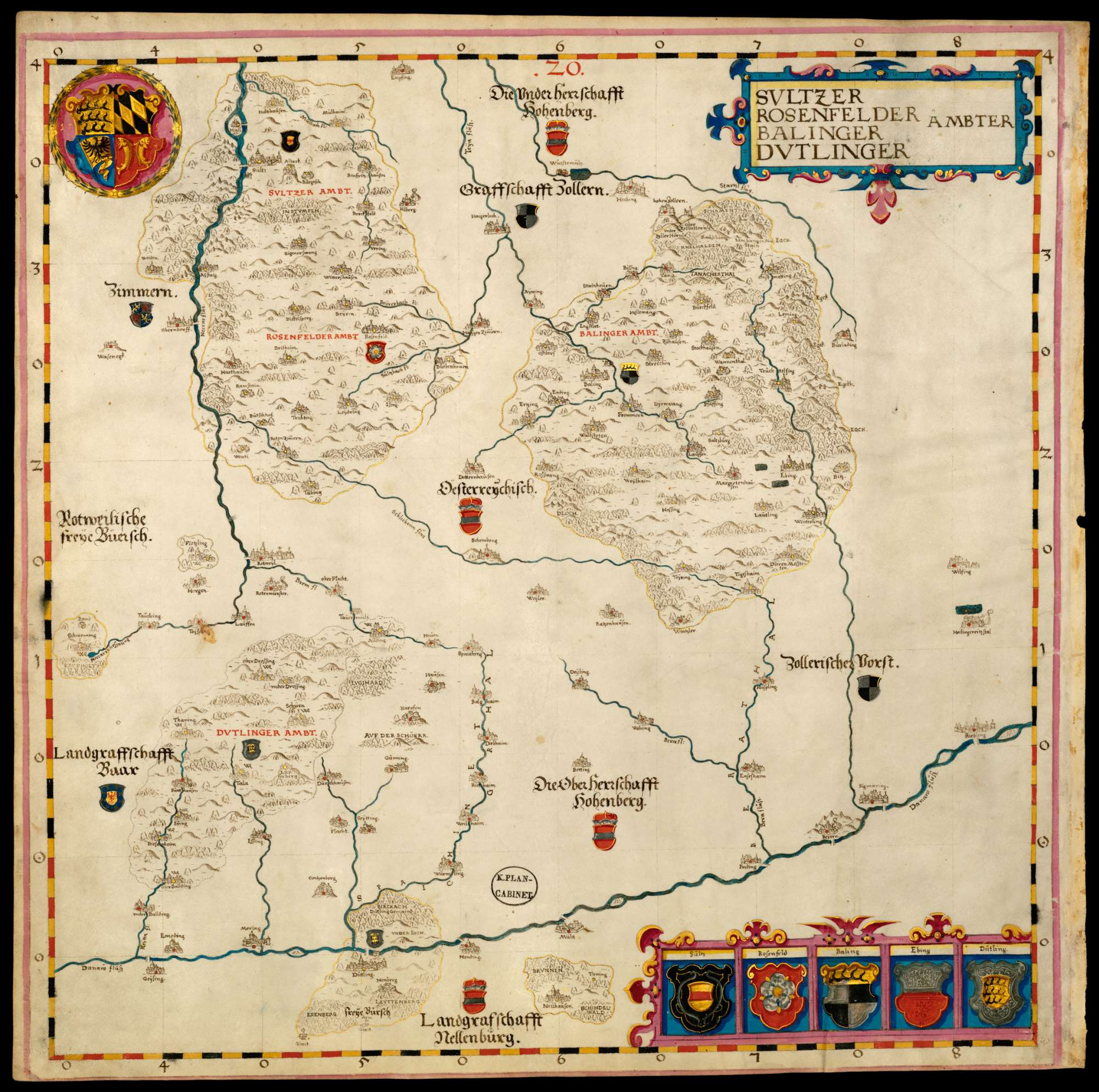 Bl. 24 v: Ämter Sulz, Rosenfeld, Balingen und Tuttlingen (20), Bild 1